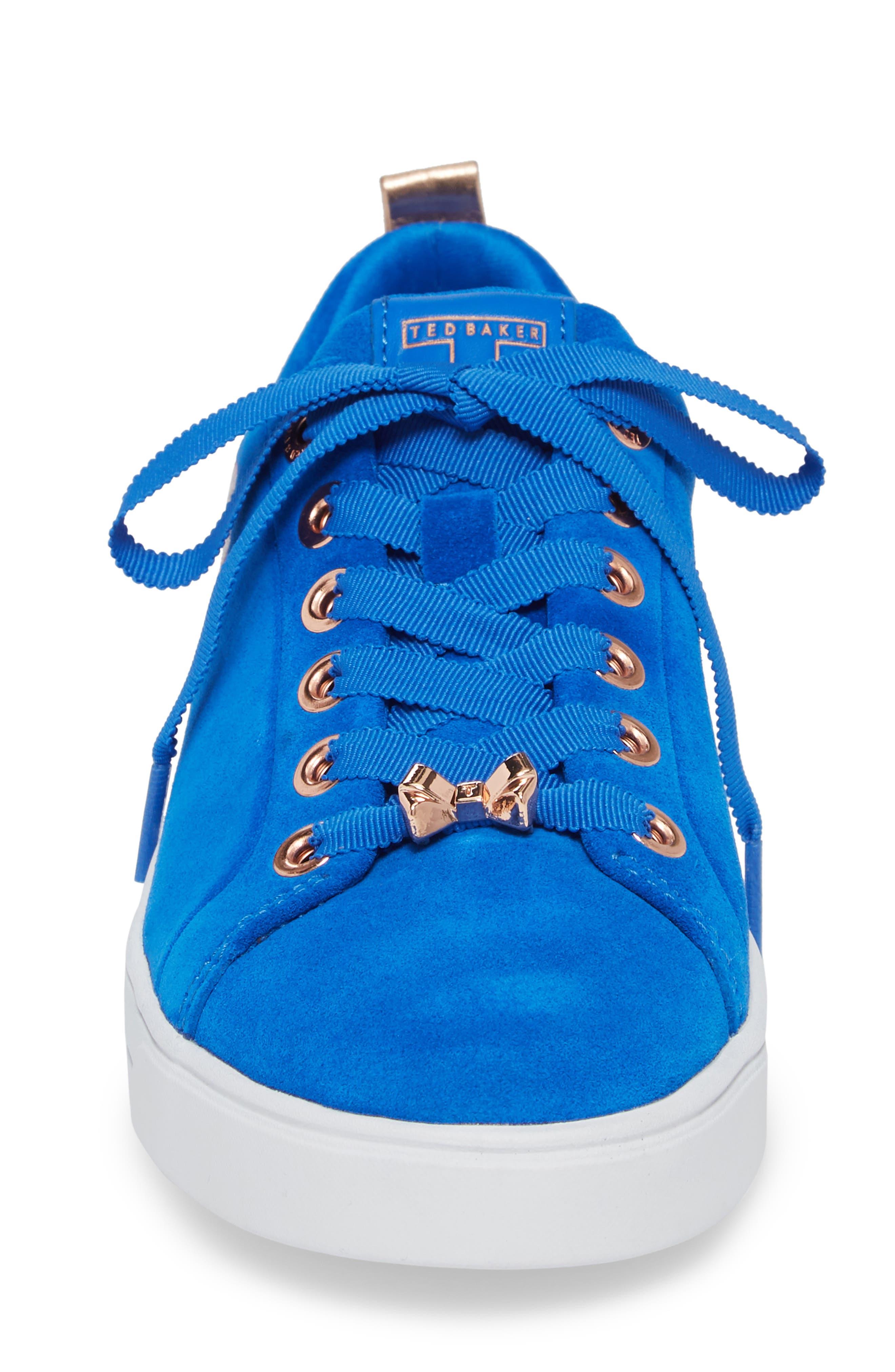 Eryin Sneaker,                             Alternate thumbnail 4, color,                             BLUE HARMONY PRINT SUEDE