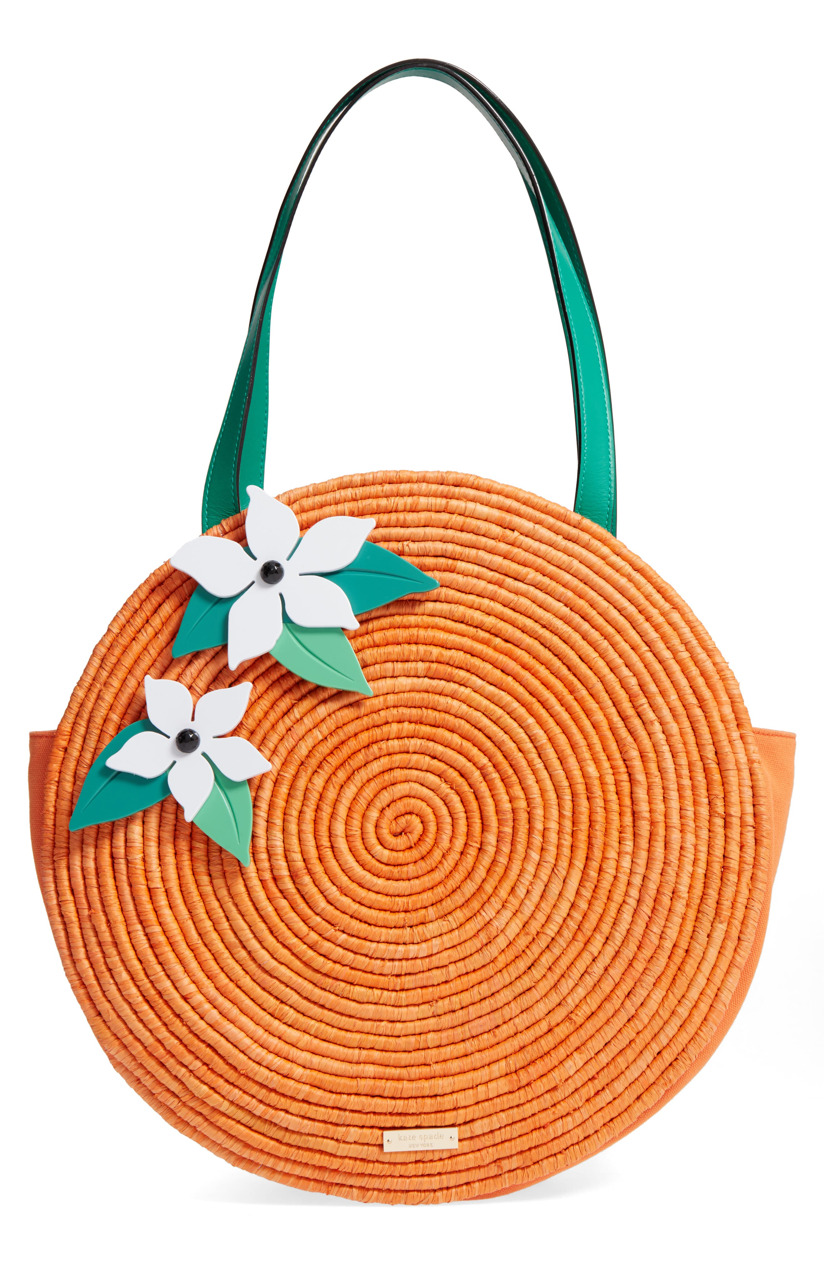 spice things up orange tote,                         Main,                         color, 800