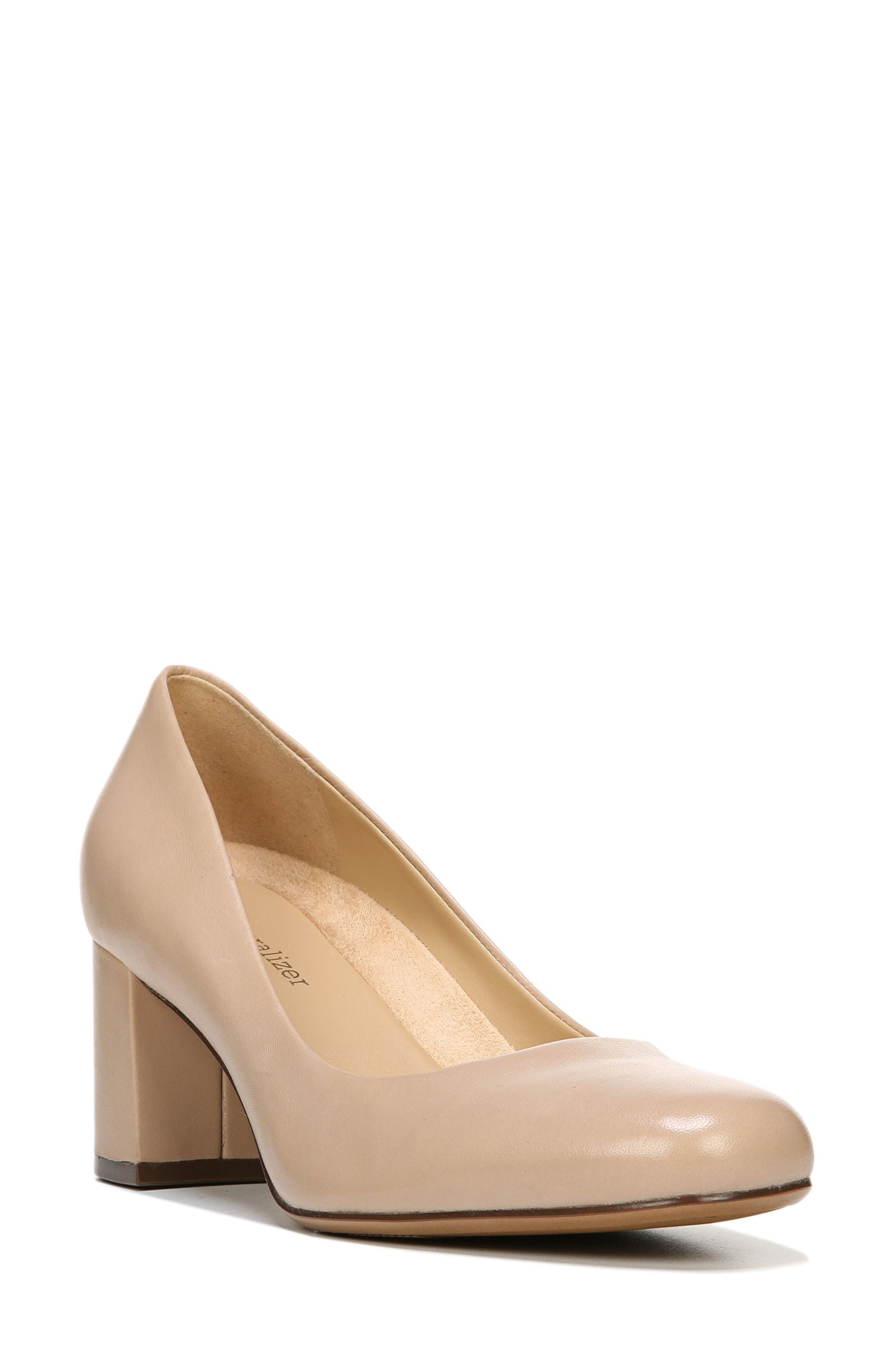 Whitney Pump,                             Main thumbnail 1, color,                             TENDER TAUPE LEATHER