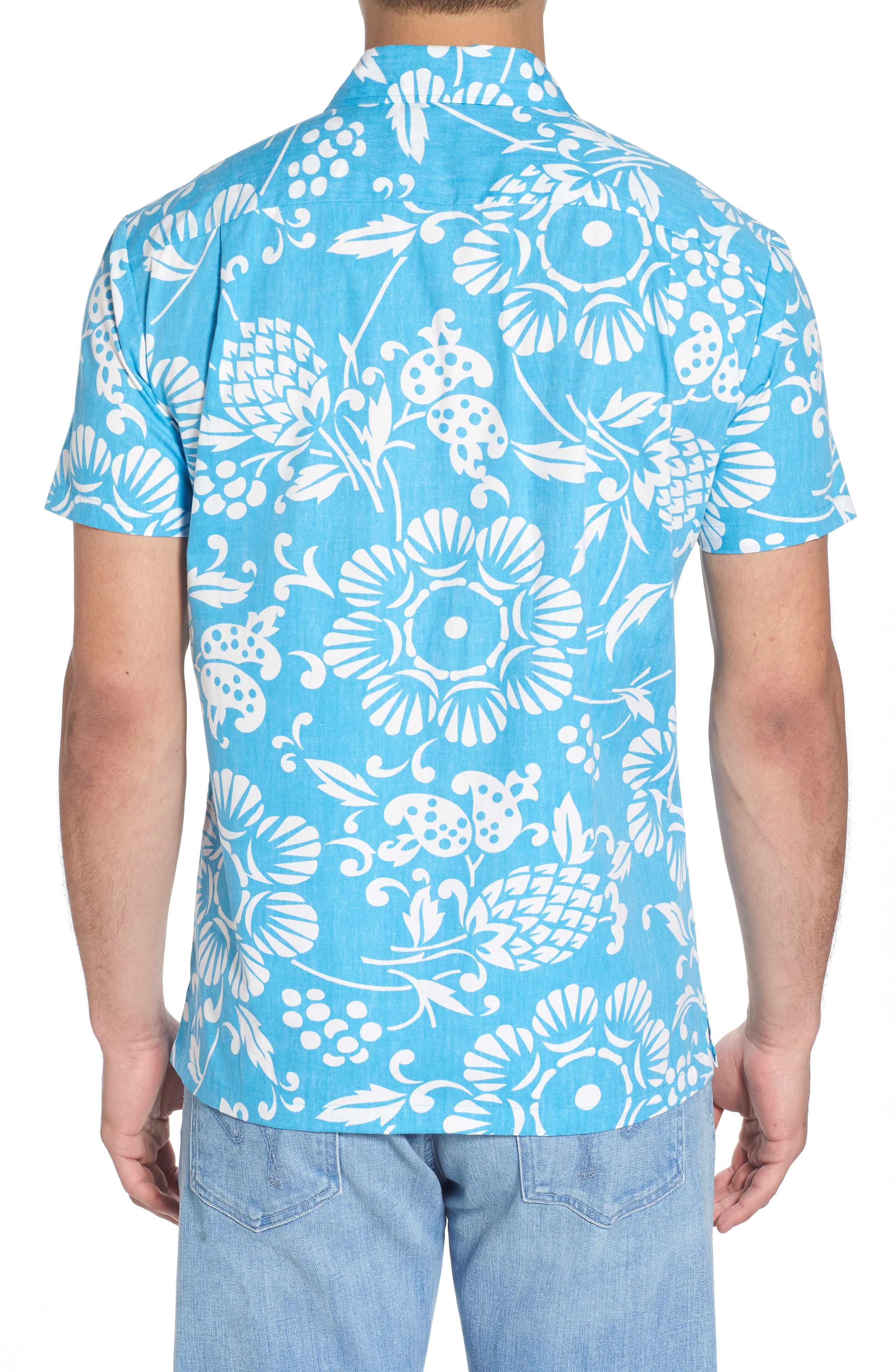 Duke's Pareo Trim Fit Sport Shirt,                             Alternate thumbnail 2, color,                             SKY BLUE