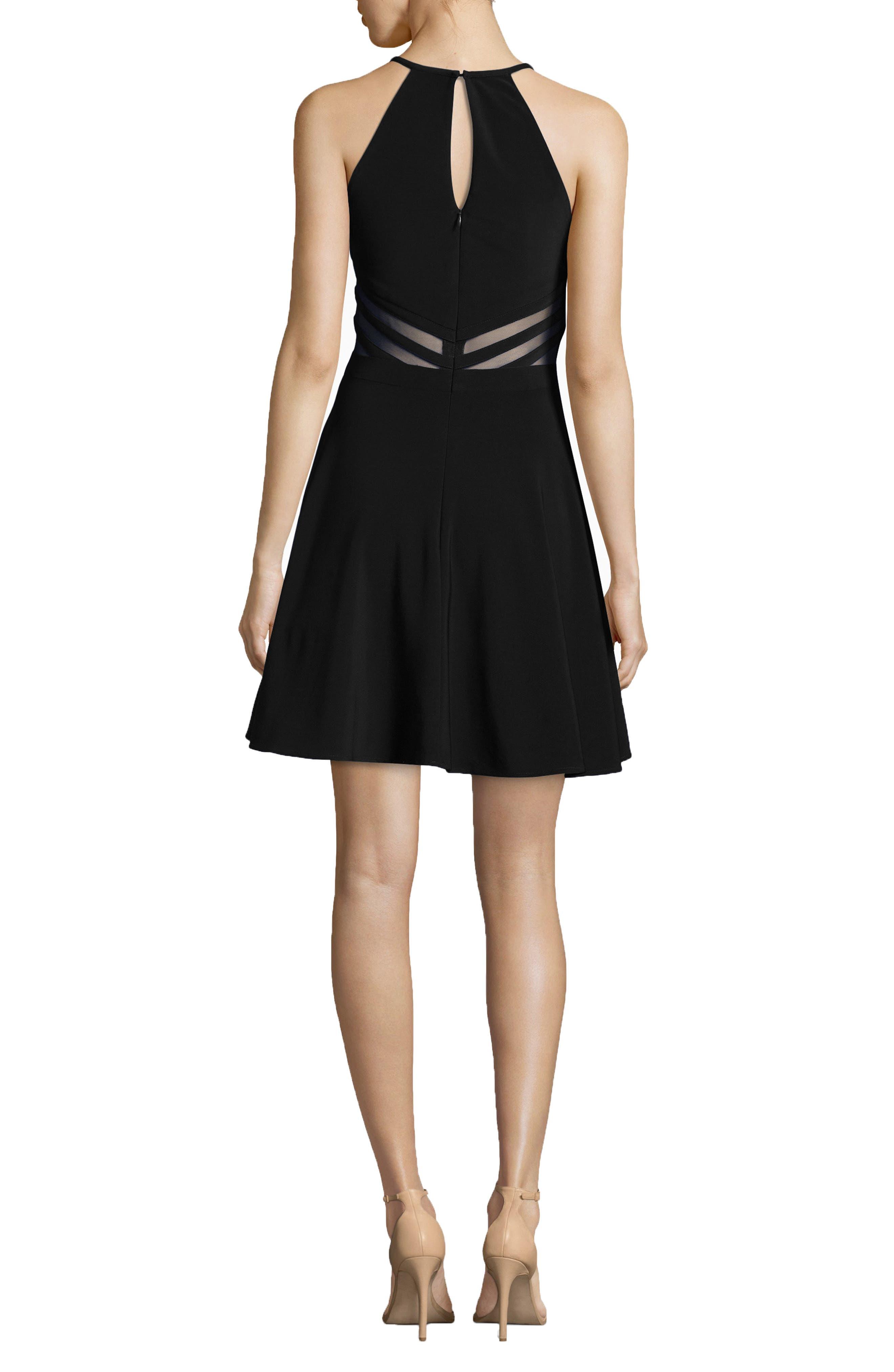 Stripe Waist Party Dress,                             Alternate thumbnail 2, color,                             001