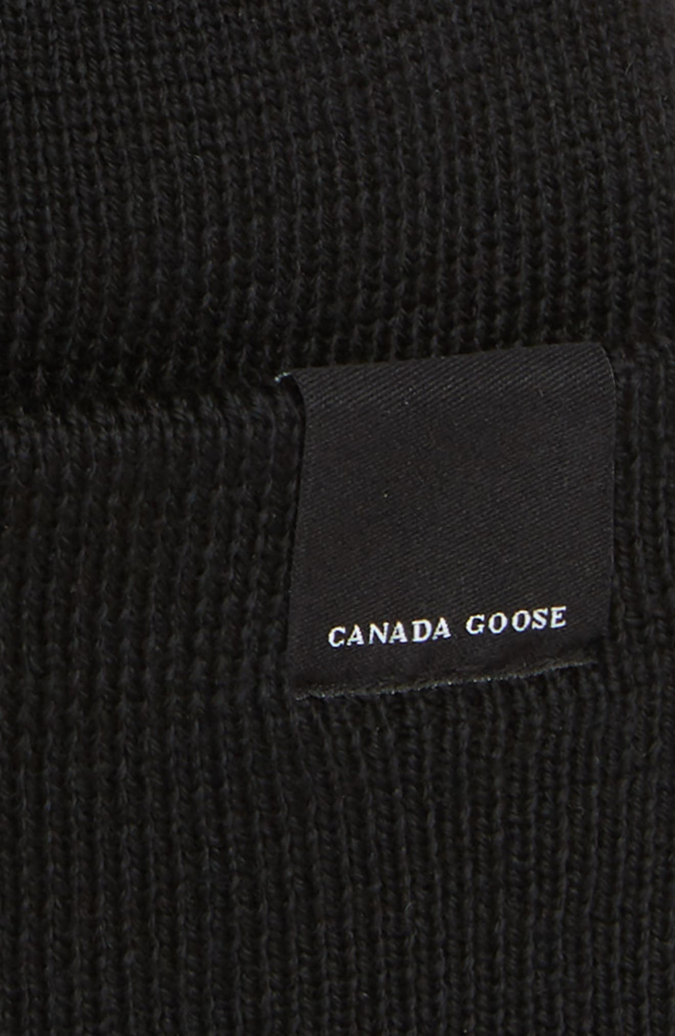 CANADA GOOSE,                             Classic Merino Wool Beanie,                             Alternate thumbnail 2, color,                             001