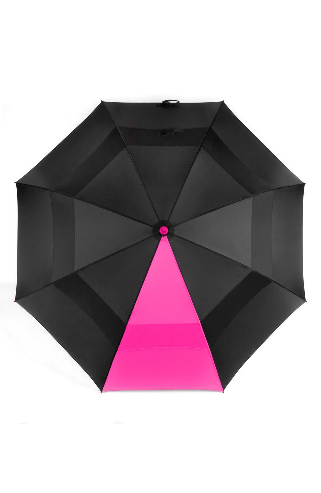 'WindJammer<sup>®</sup>' Golf Umbrella,                             Alternate thumbnail 5, color,                             BLACK/ PINK