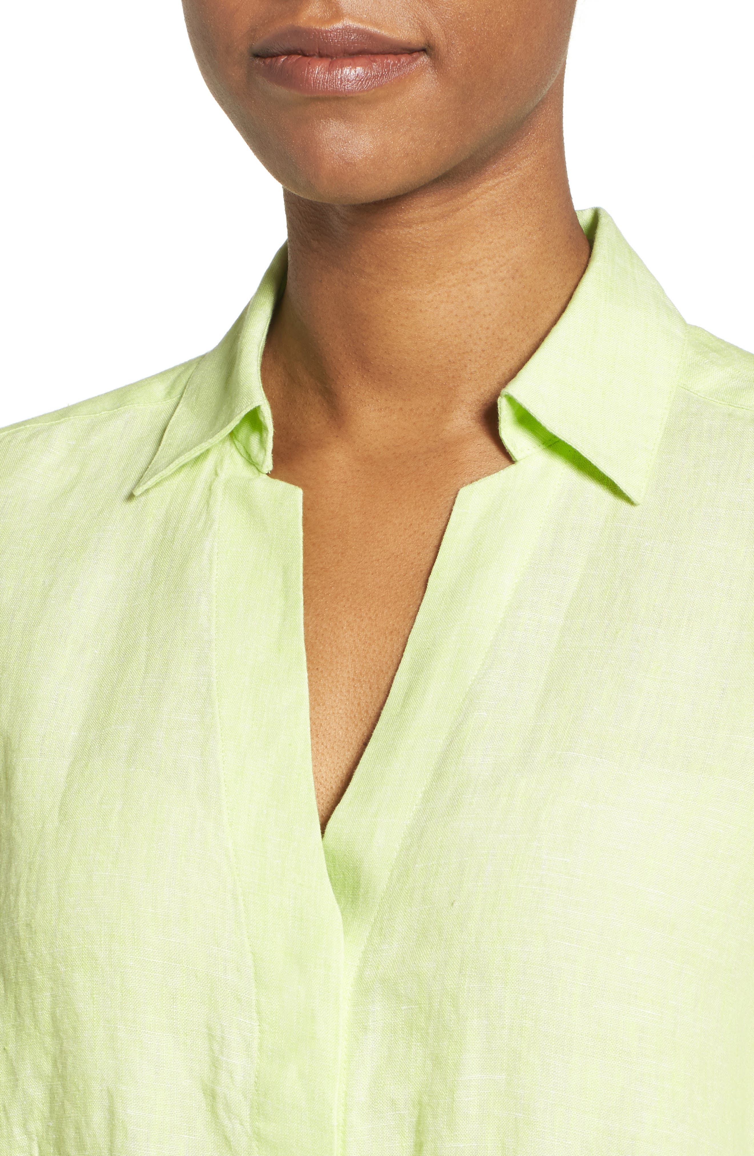 Linen Chambray Shirt,                             Alternate thumbnail 26, color,