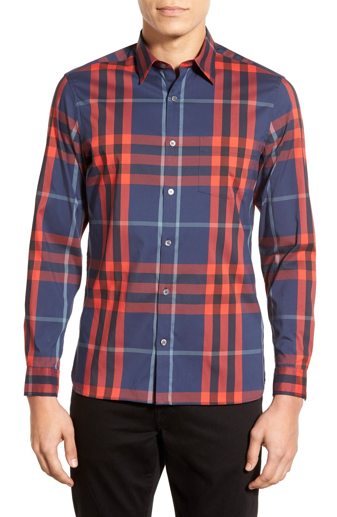 Nelson Check Sport Shirt,                             Main thumbnail 12, color,