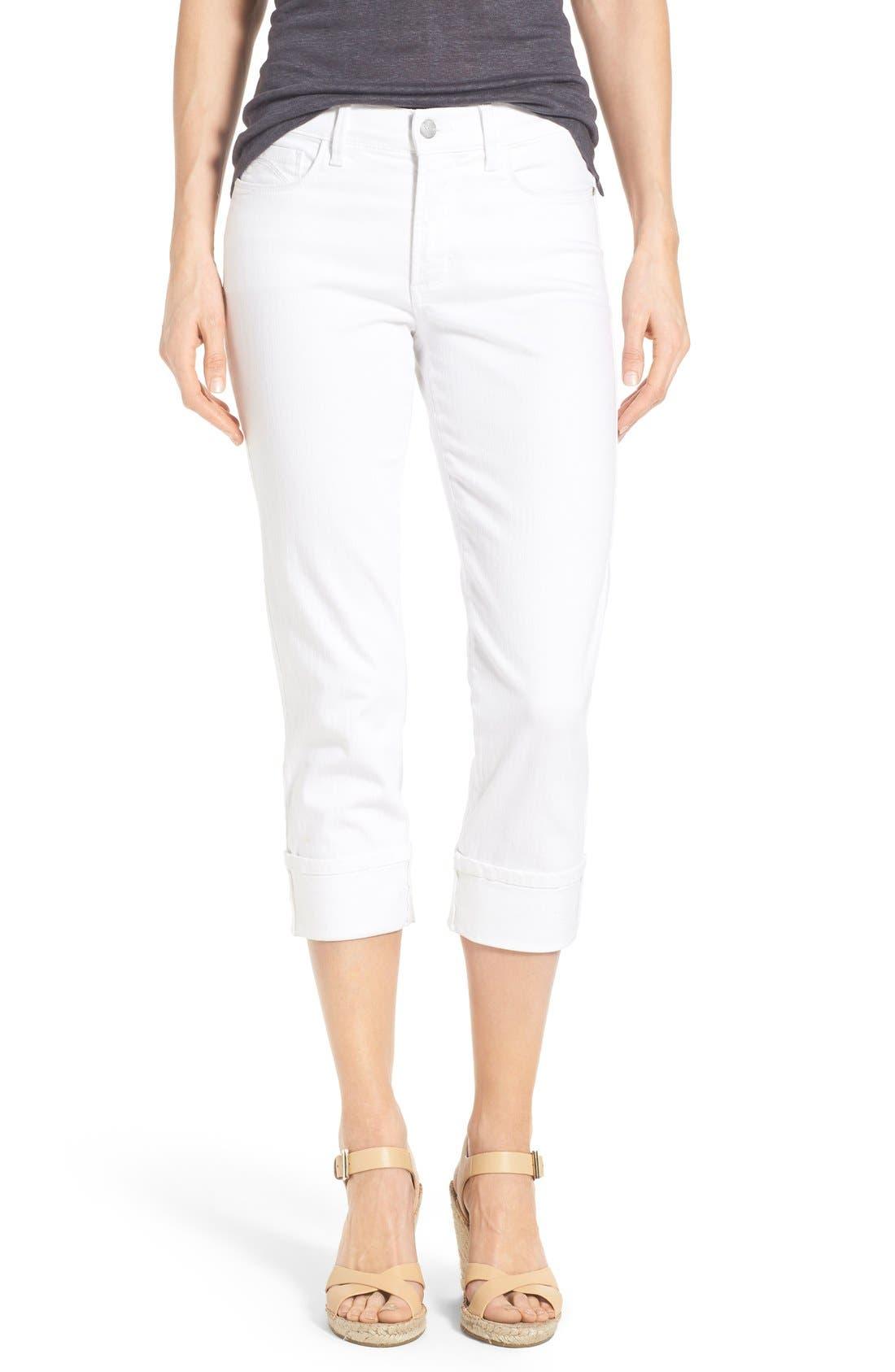'Dayla' Colored Wide Cuff Capri Jeans,                             Main thumbnail 3, color,