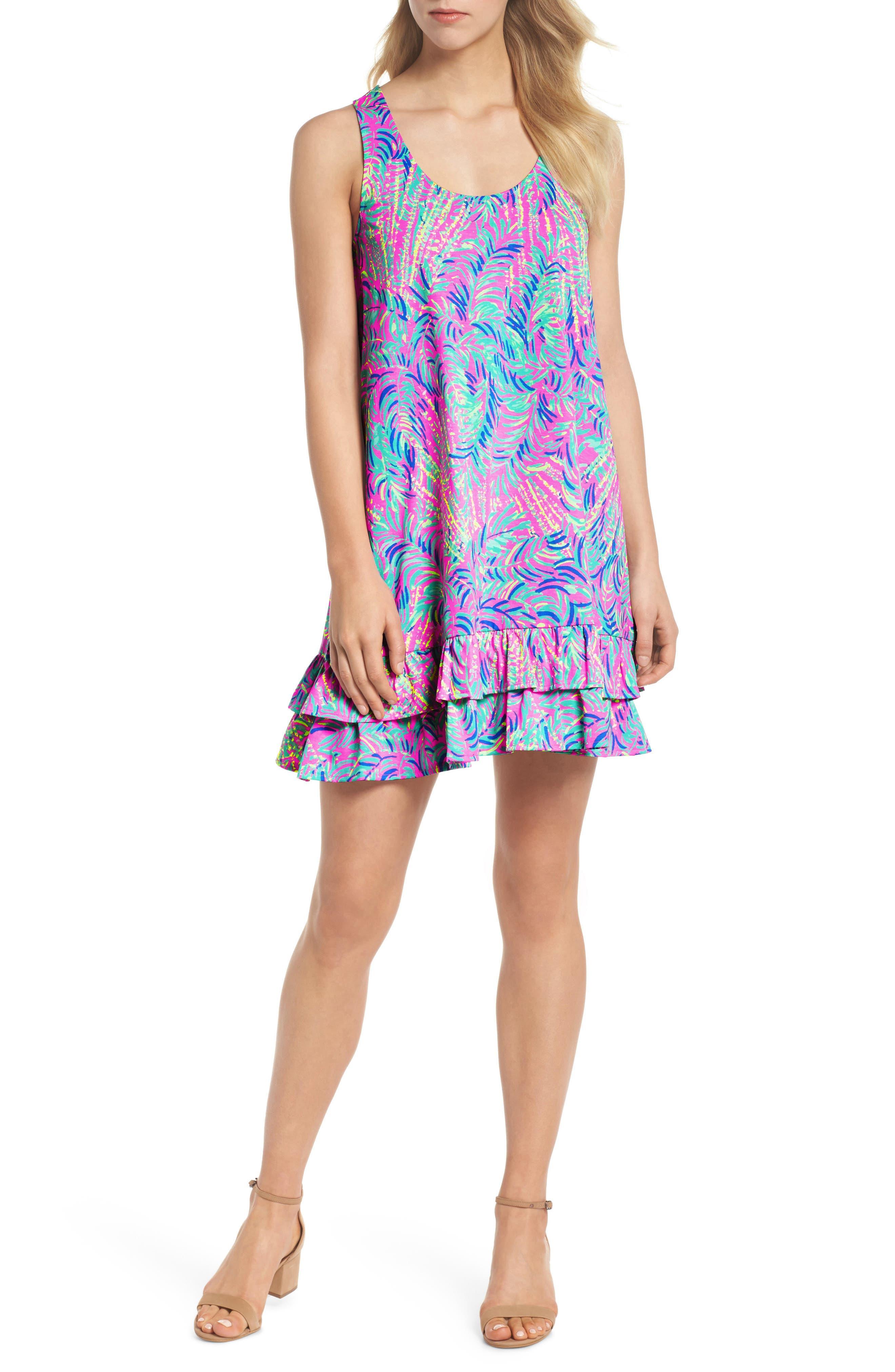 Evangelia Sleeveless Racerback Dress, Main, color, 650