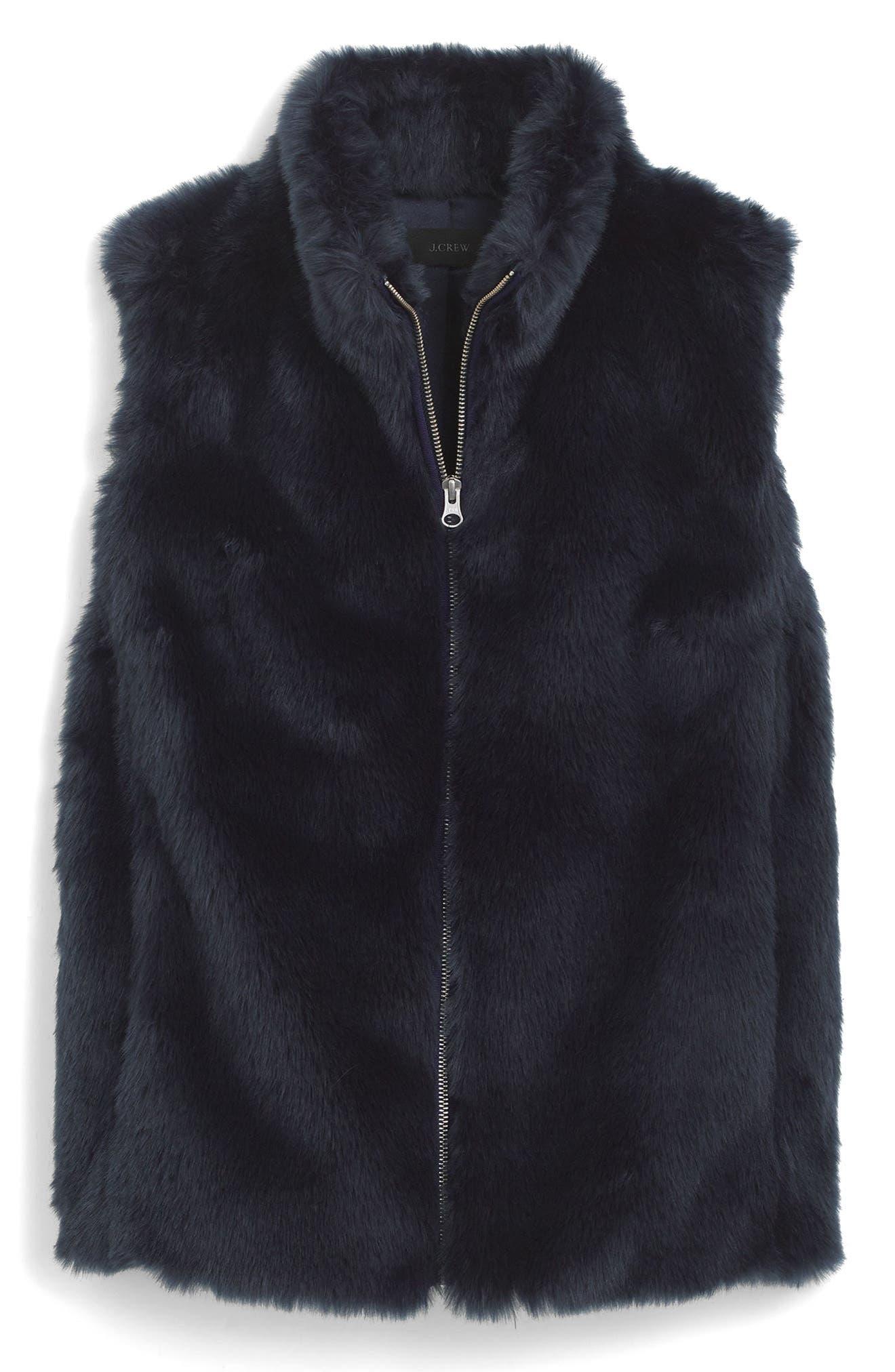 Faux Fur Vest,                             Main thumbnail 1, color,                             400