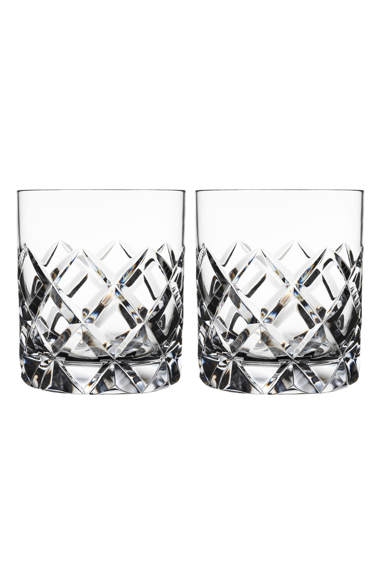 Sofiero Set of 2 Crystal Old Fashioned Glasses,                         Main,                         color, 100