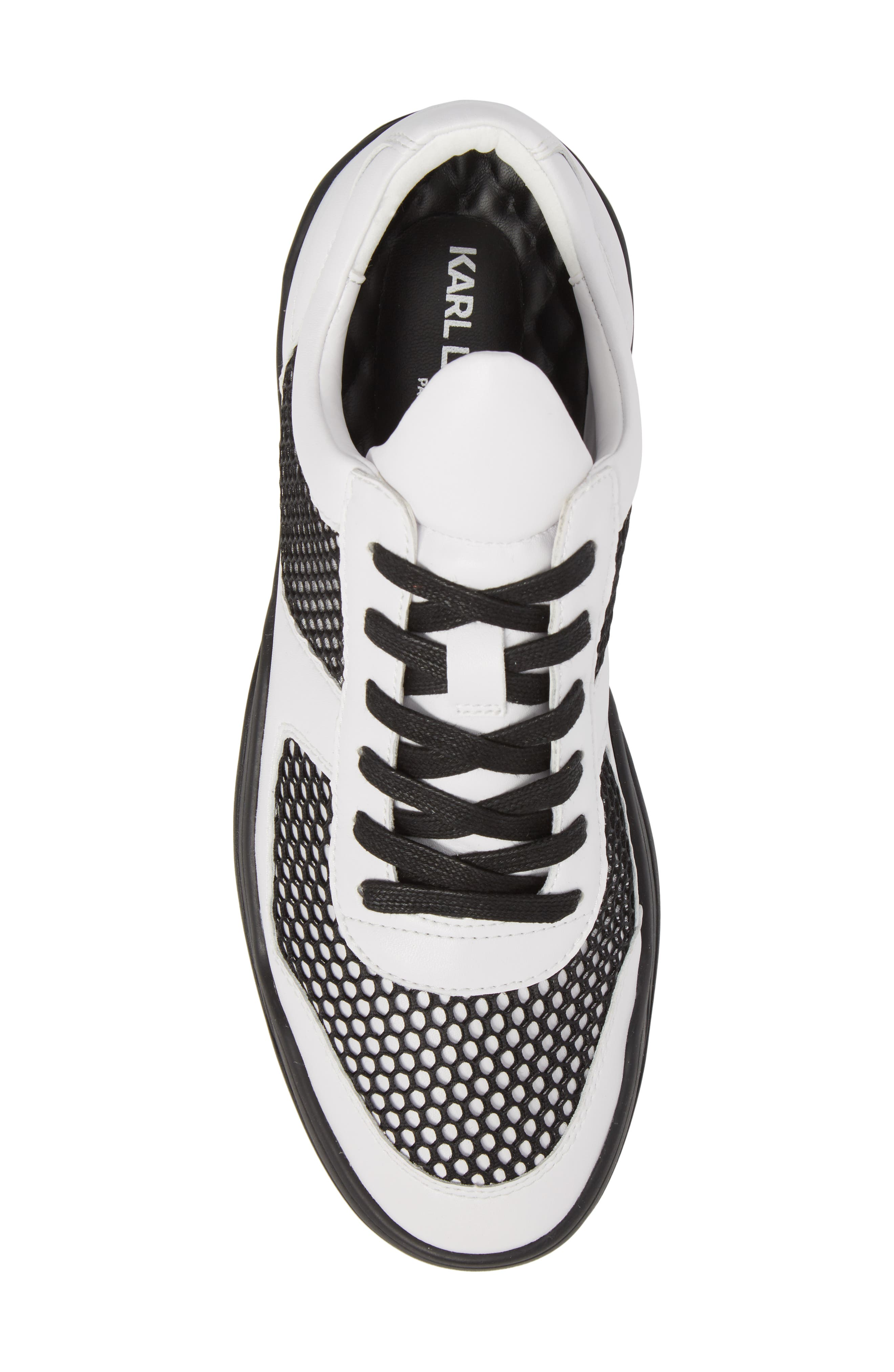 Low-Top Sneaker,                             Alternate thumbnail 5, color,                             BLACK/WHITE