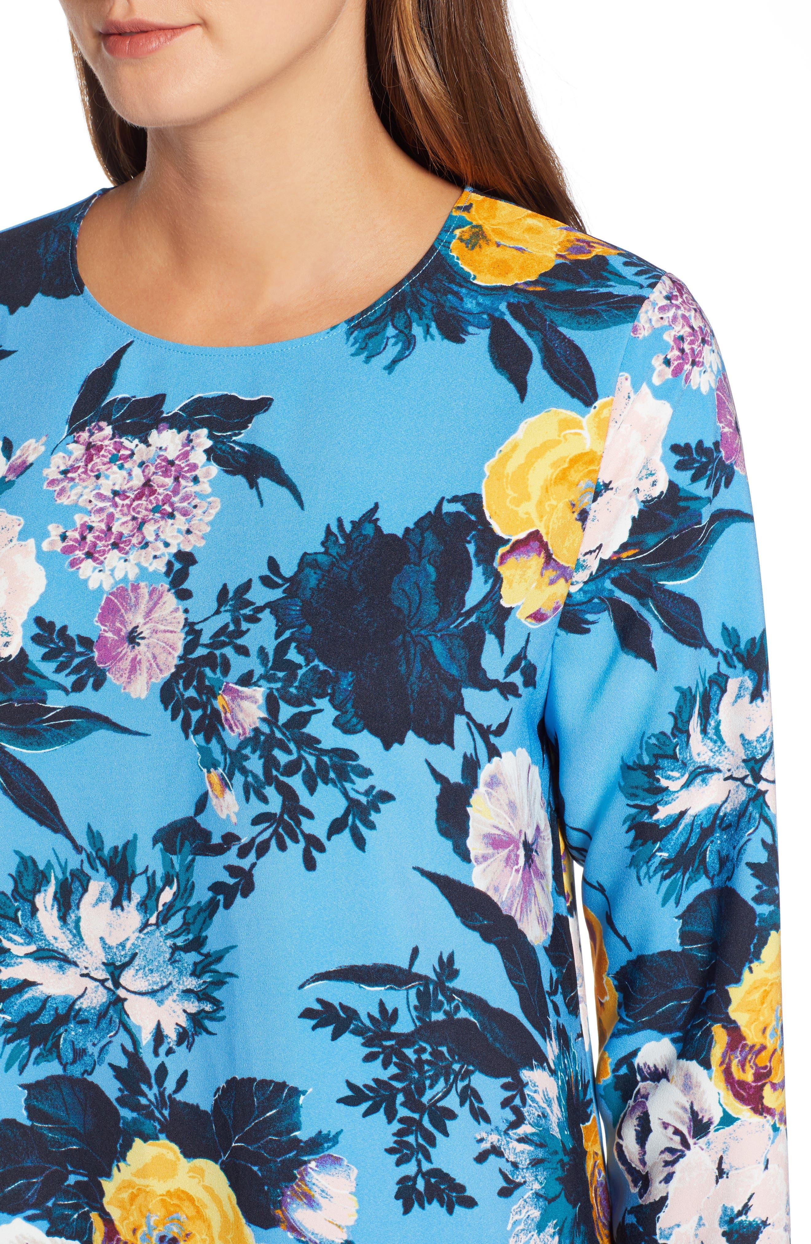 Button Back Ruffle Hem Dress,                             Alternate thumbnail 35, color,