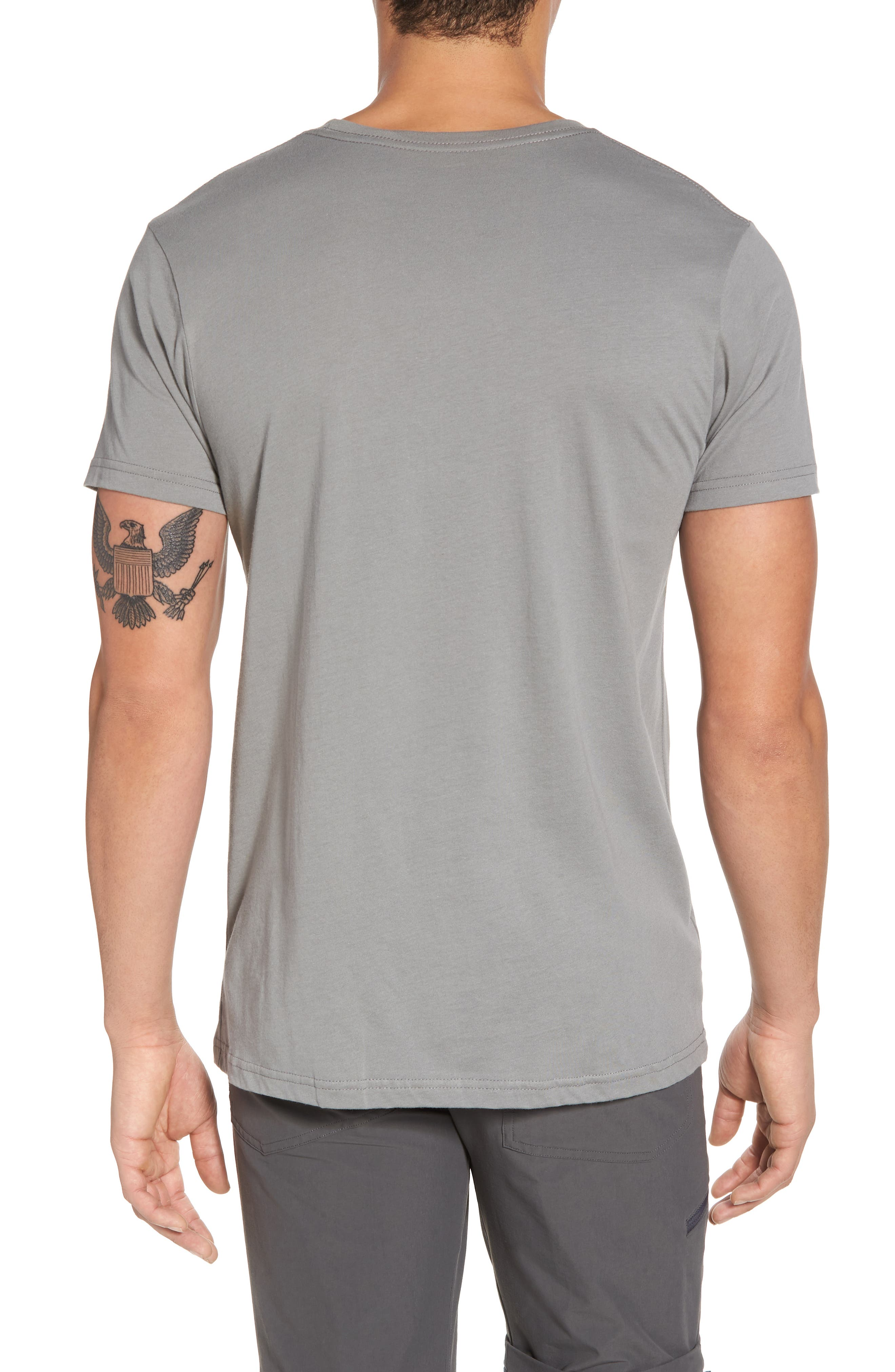 Up & Out Graphic Organic Cotton T-Shirt,                             Alternate thumbnail 2, color,                             FEATHER GREY