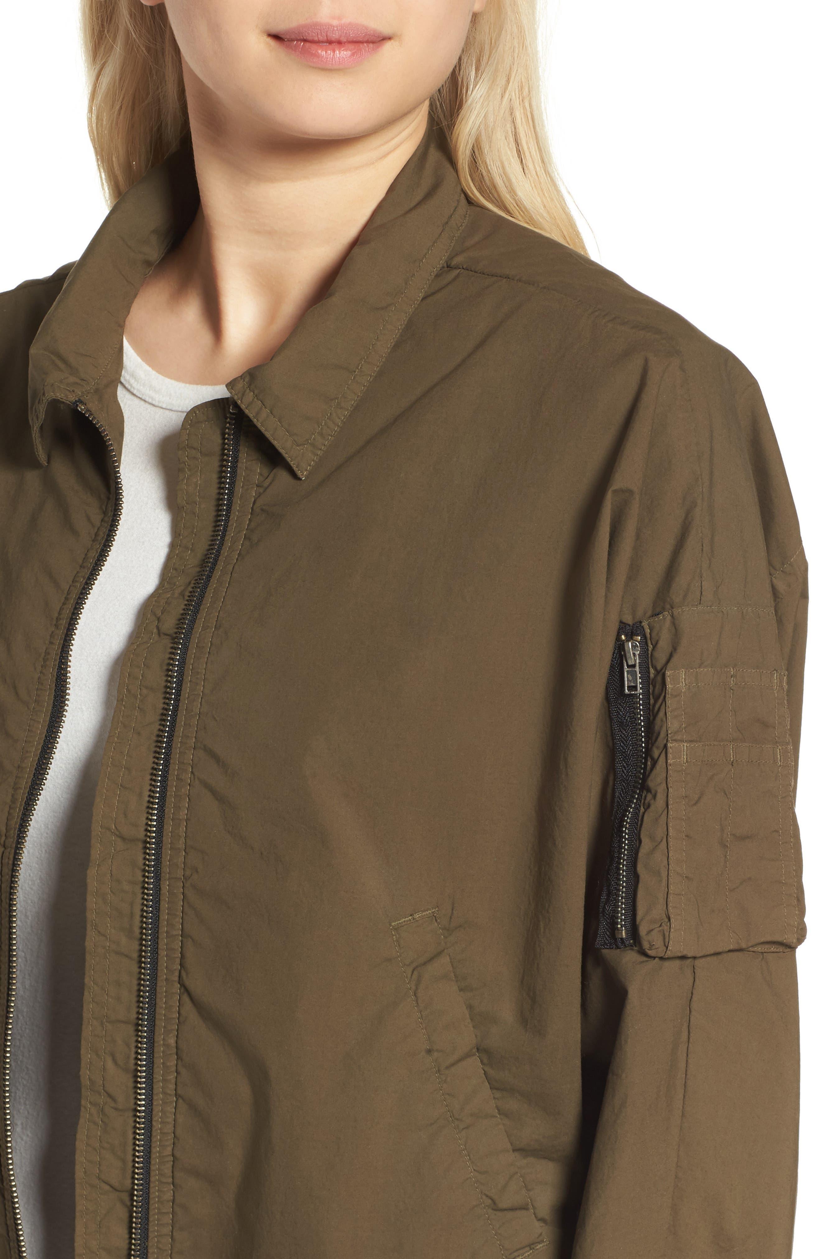 Dolman Sleeve Bomber Jacket,                             Alternate thumbnail 8, color,