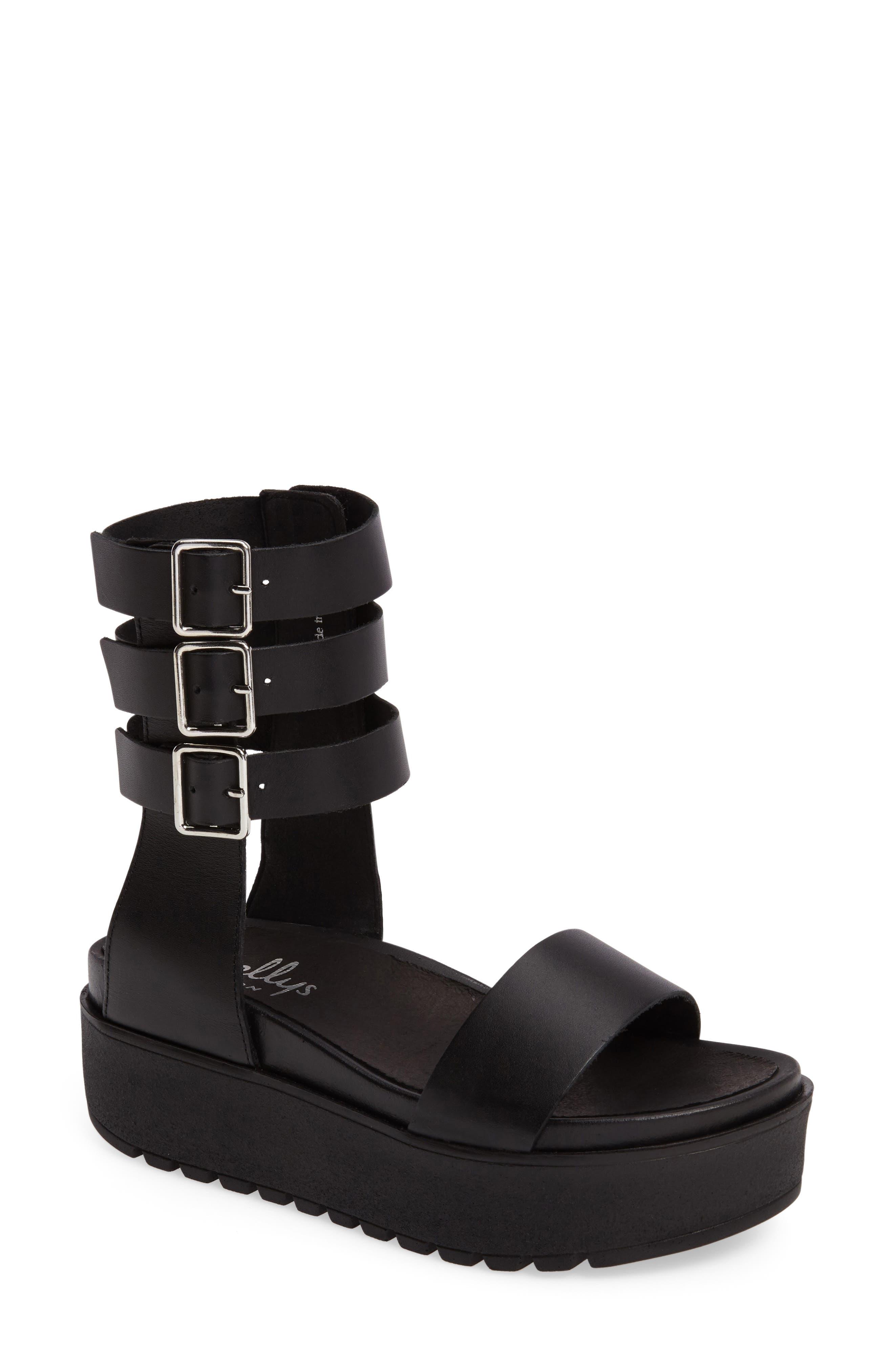 Kegan Platform Gladiator Sandal,                         Main,                         color, 001