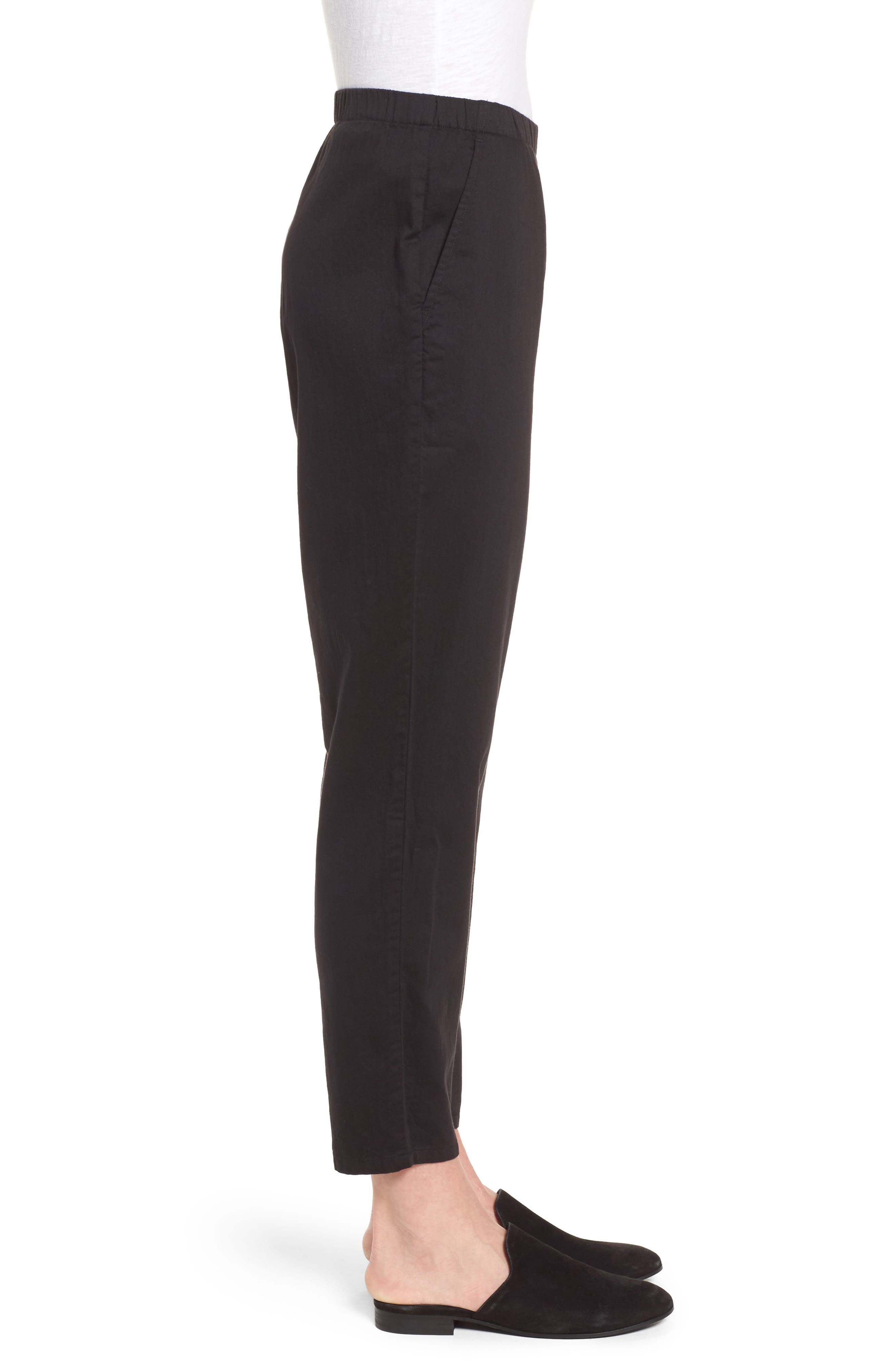 Organic Cotton Tapered Ankle Pants,                             Alternate thumbnail 10, color,