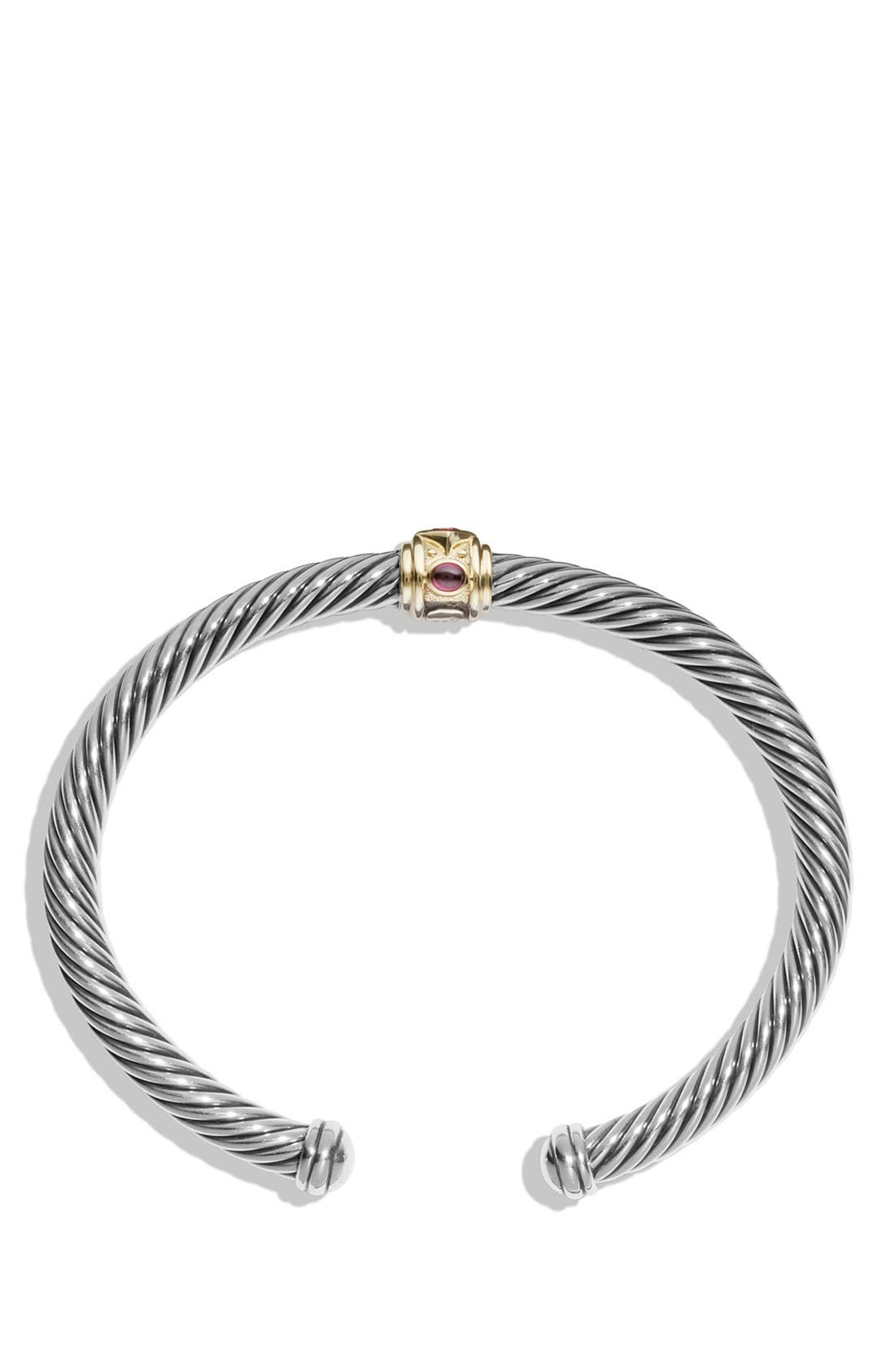 Renaissance Bracelet with Semiprecious Stones & 14K Gold, 5mm,                             Alternate thumbnail 2, color,                             PINK TOURMALINE