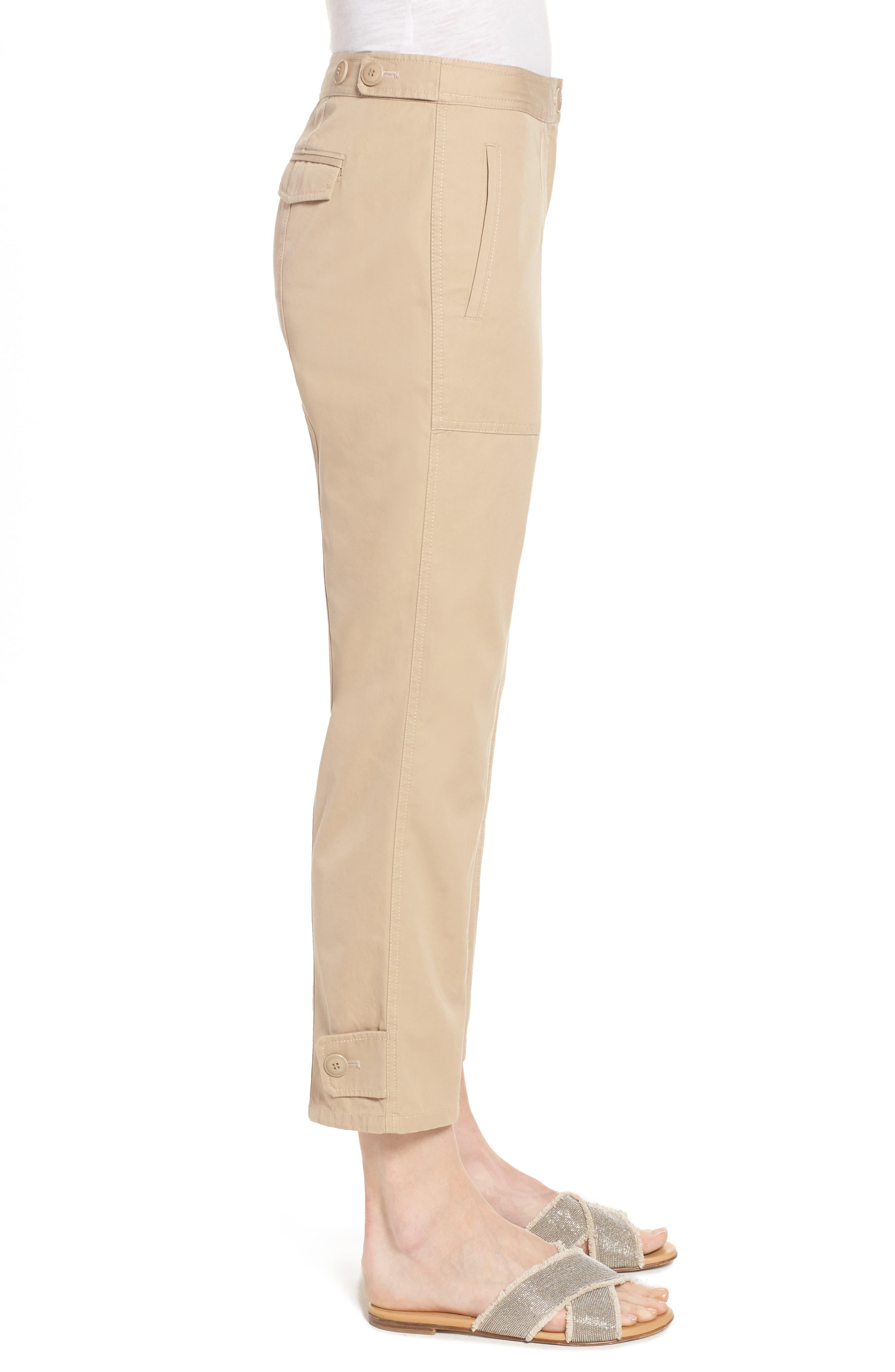 Wide Leg Crop Pants,                             Alternate thumbnail 3, color,                             270