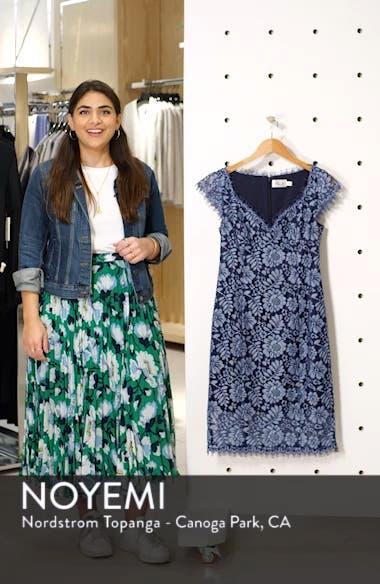 Floral Lace Sheath Dress, sales video thumbnail