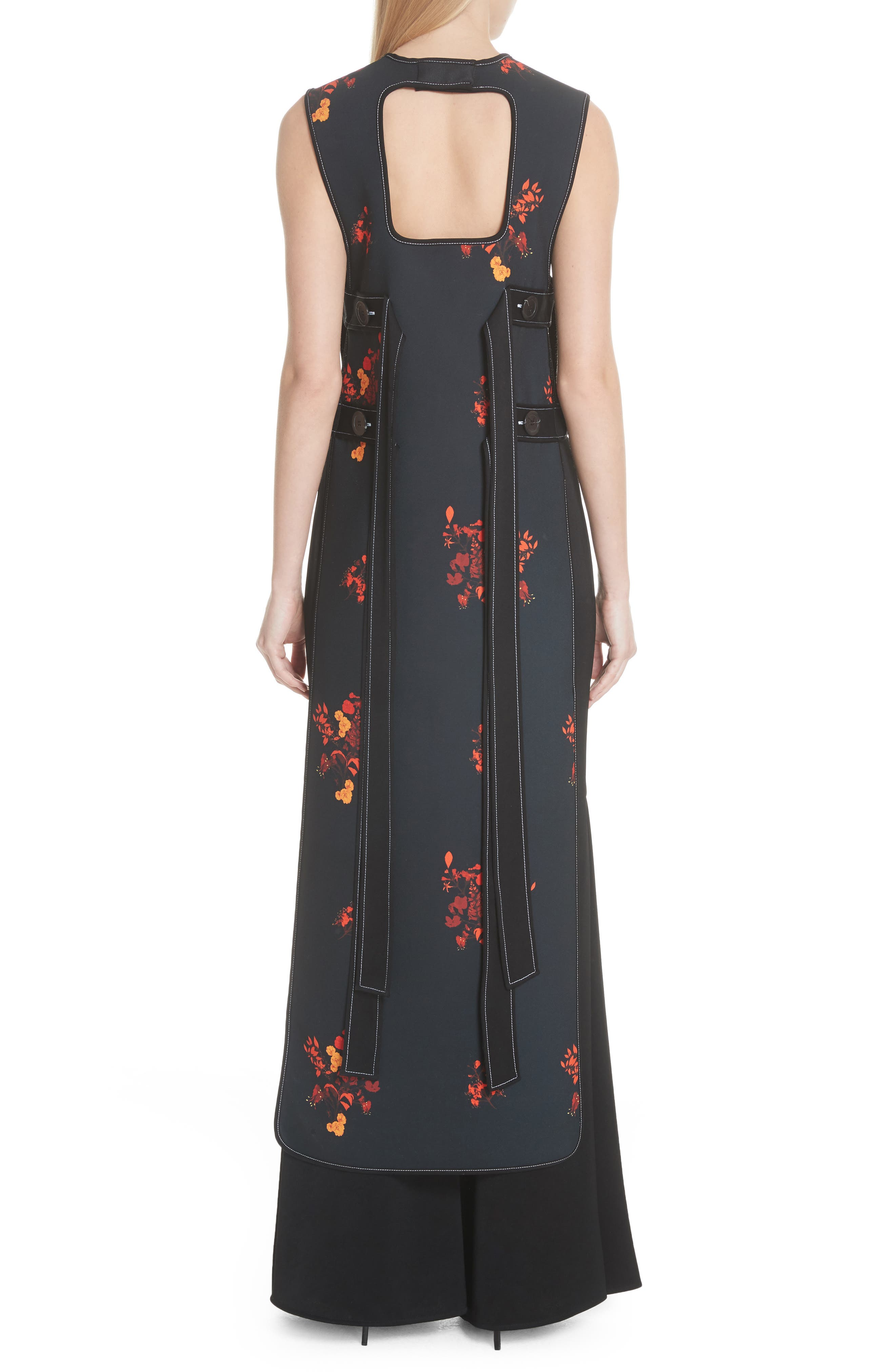 Judy Sleeveless Crepe Tunic Dress,                             Alternate thumbnail 2, color,                             800