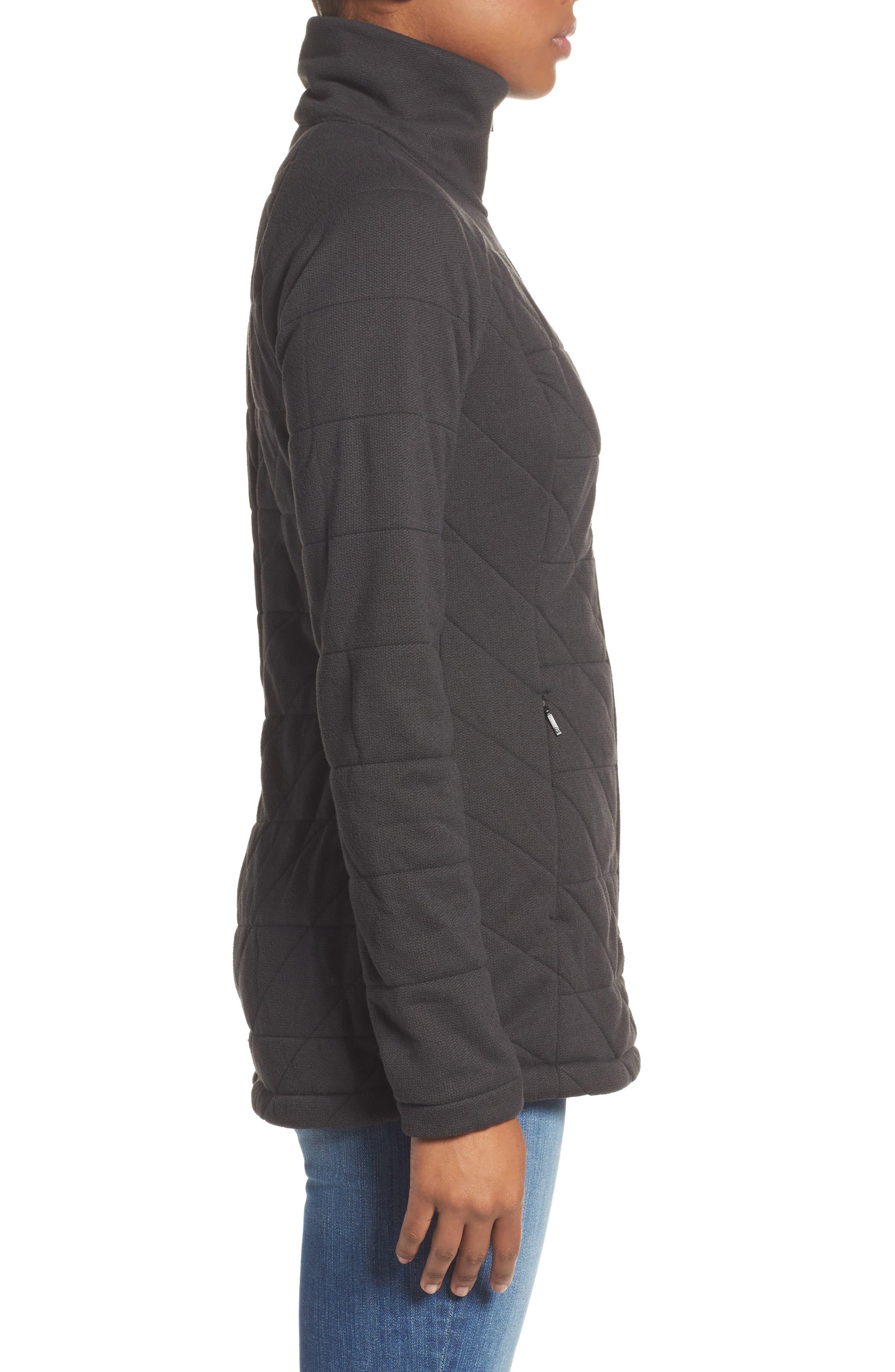 Fleece Jacket,                             Alternate thumbnail 3, color,                             001