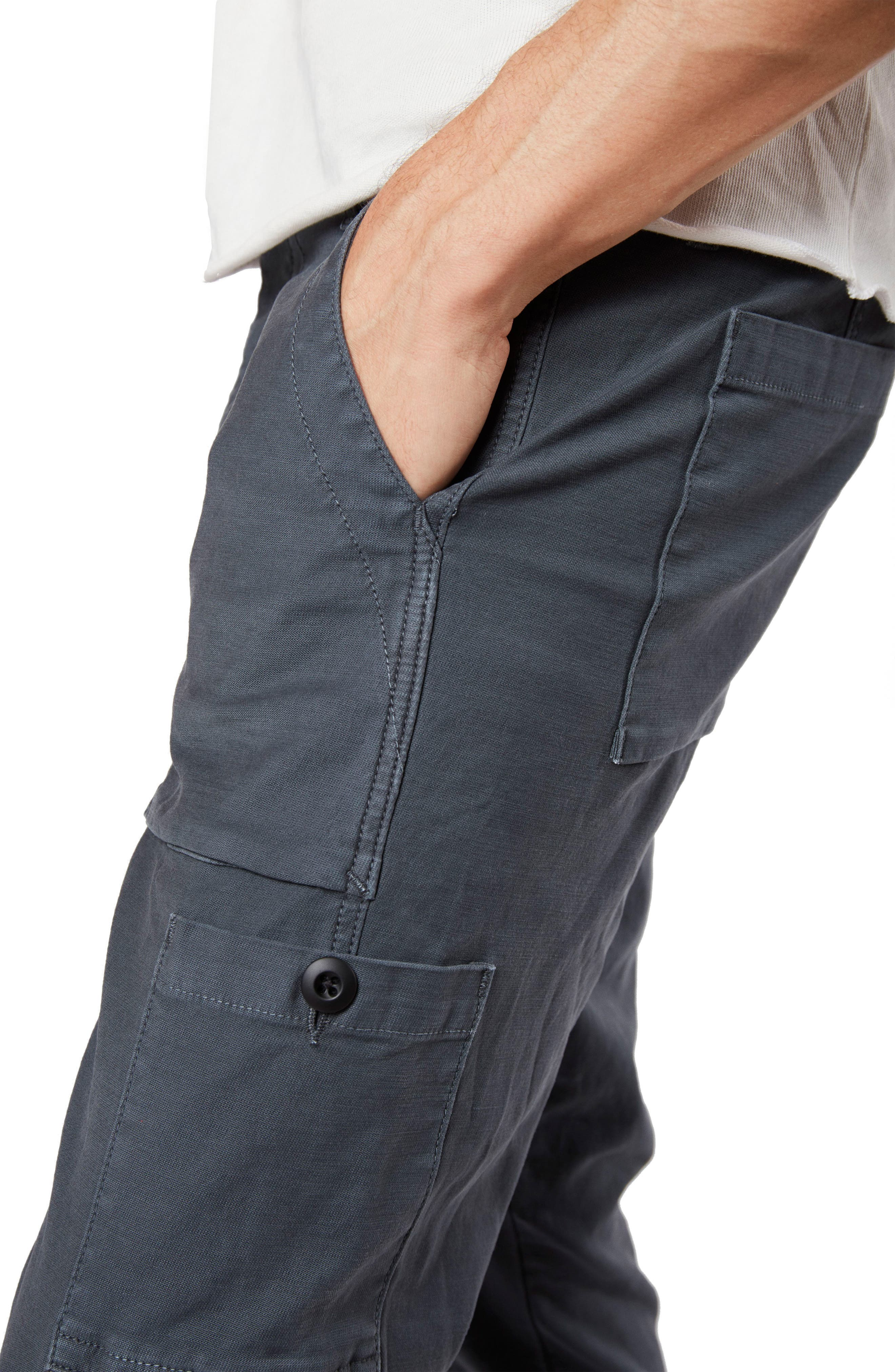 Koeficient Relaxed Fit Cargo Crop Pants,                             Alternate thumbnail 4, color,                             400