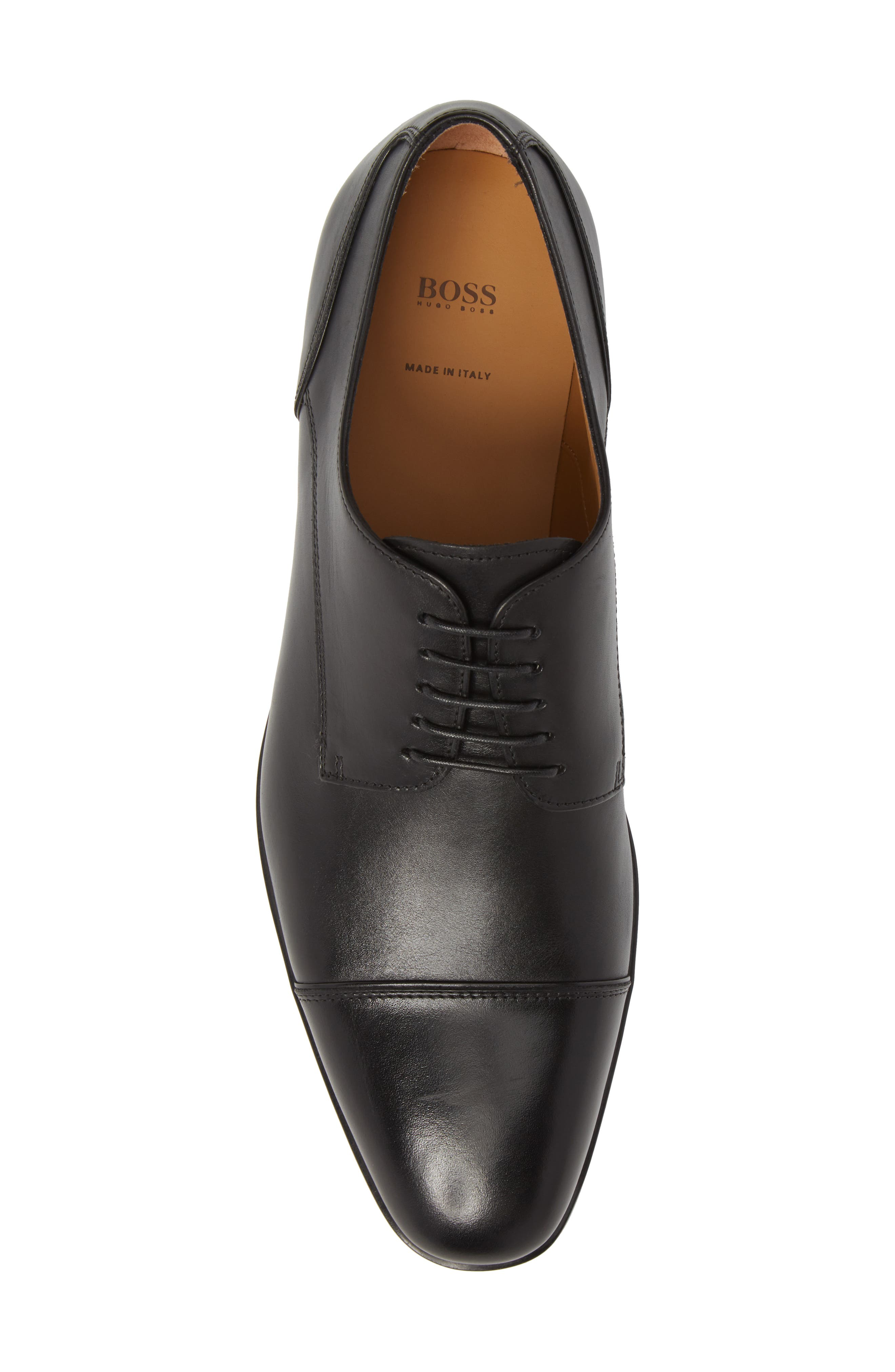 Hugo Boss Portland Cap Toe Derby,                             Alternate thumbnail 5, color,                             001
