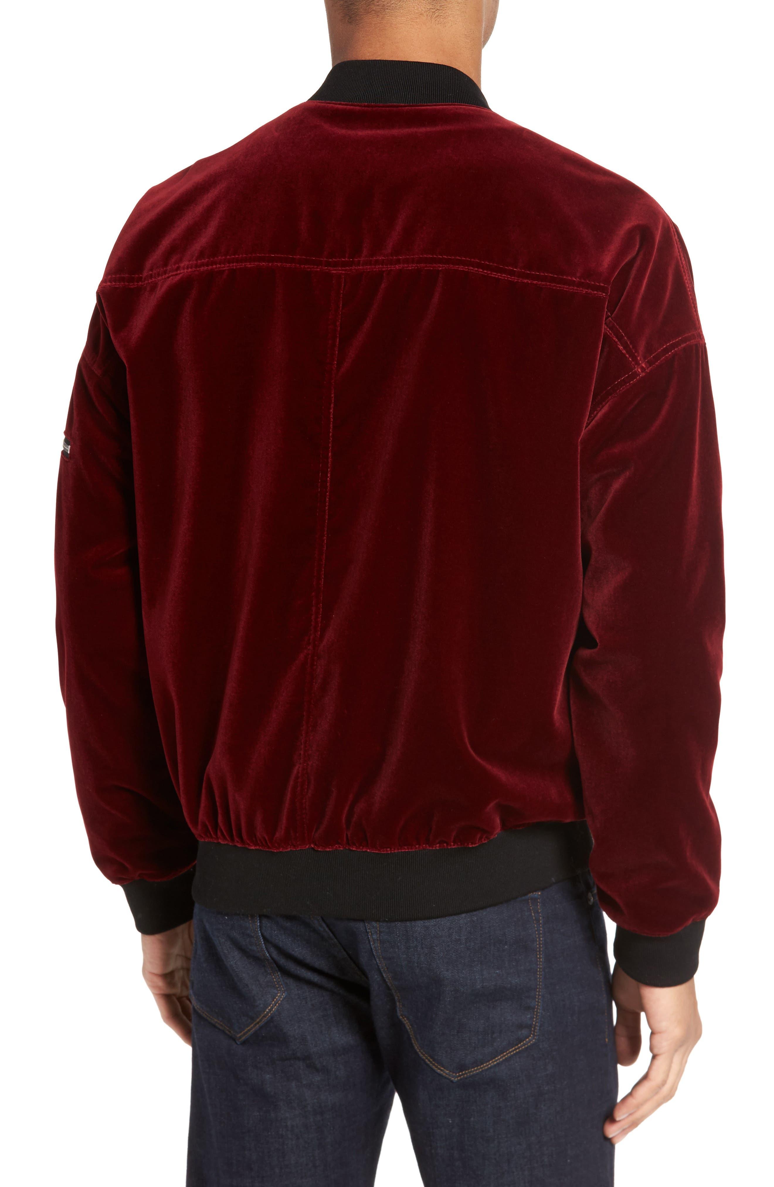 Bitrel Velvet Bomber Jacket,                             Alternate thumbnail 4, color,