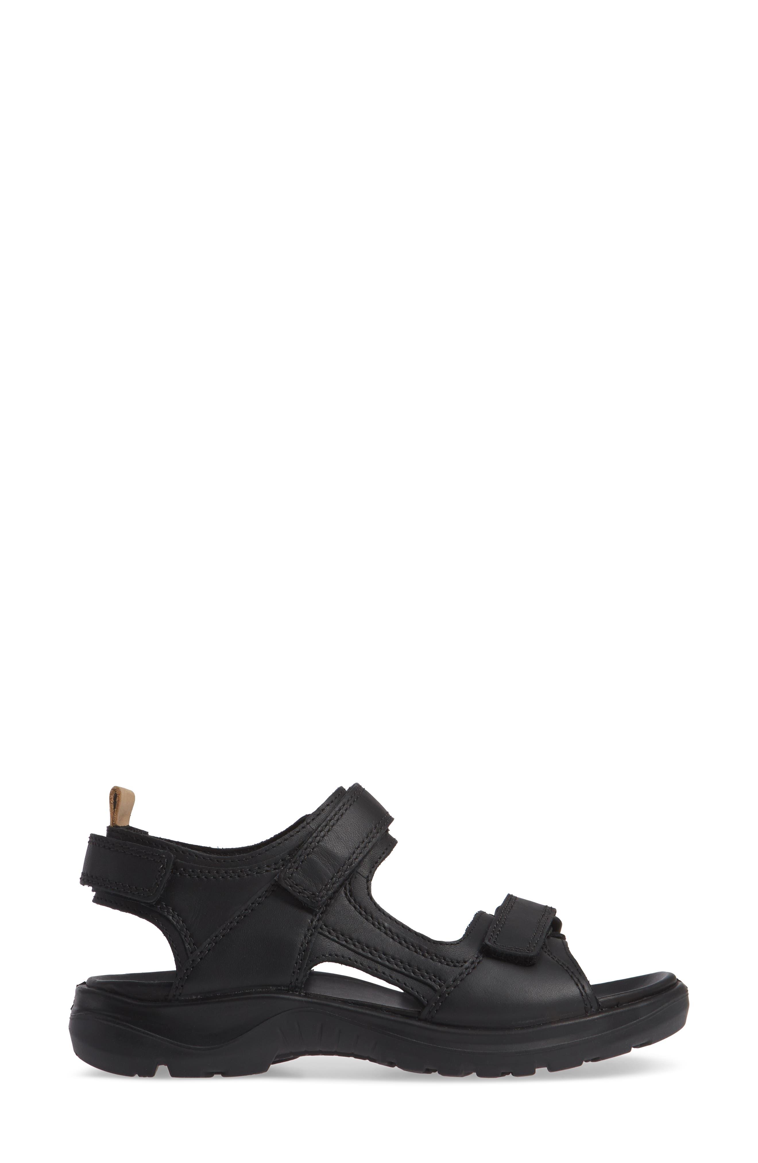 Premium Offroad Sandal,                             Alternate thumbnail 3, color,                             BLACK NUBUCK LEATHER