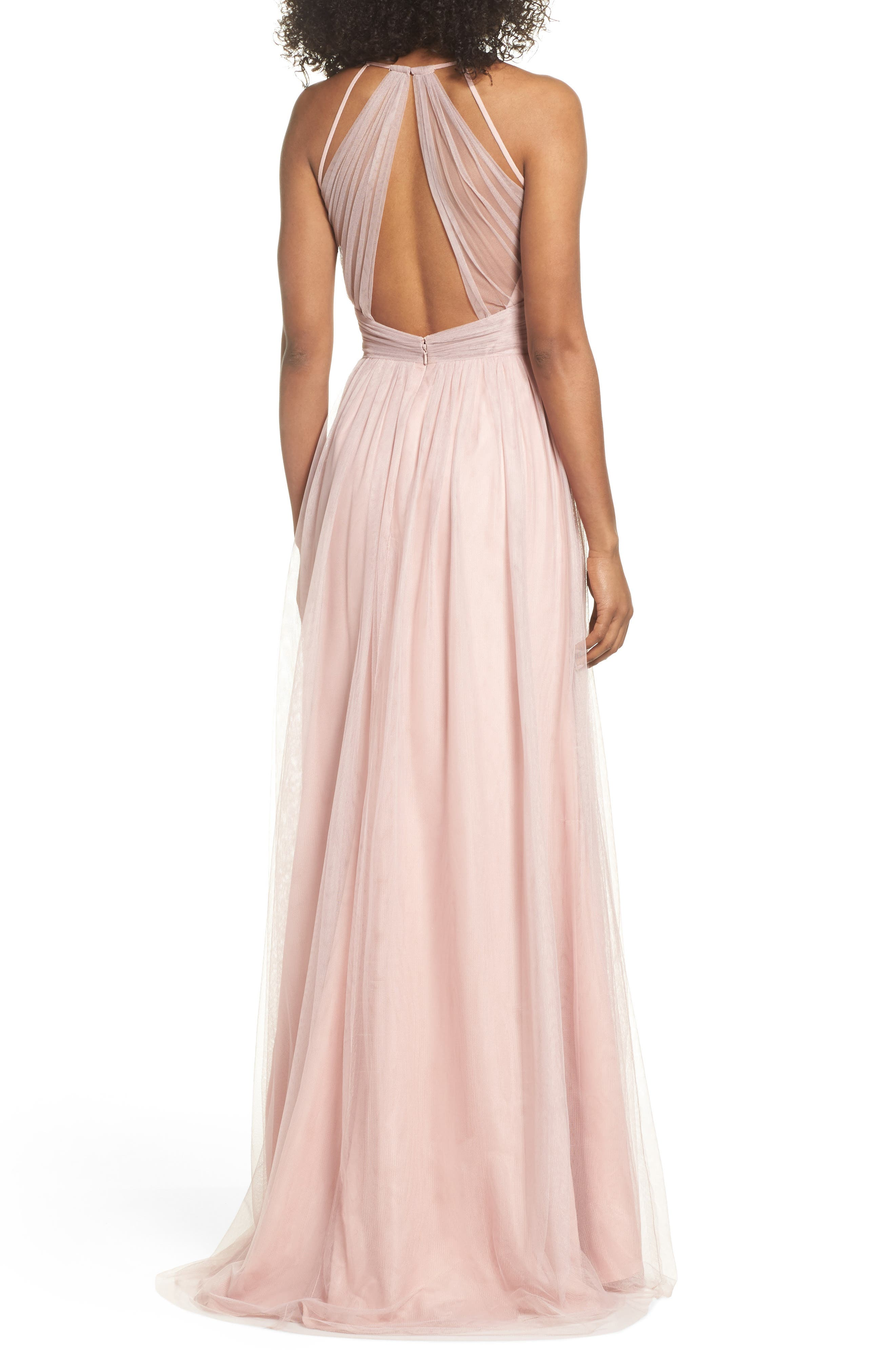 English Net Gown,                             Alternate thumbnail 2, color,                             DUSTY ROSE