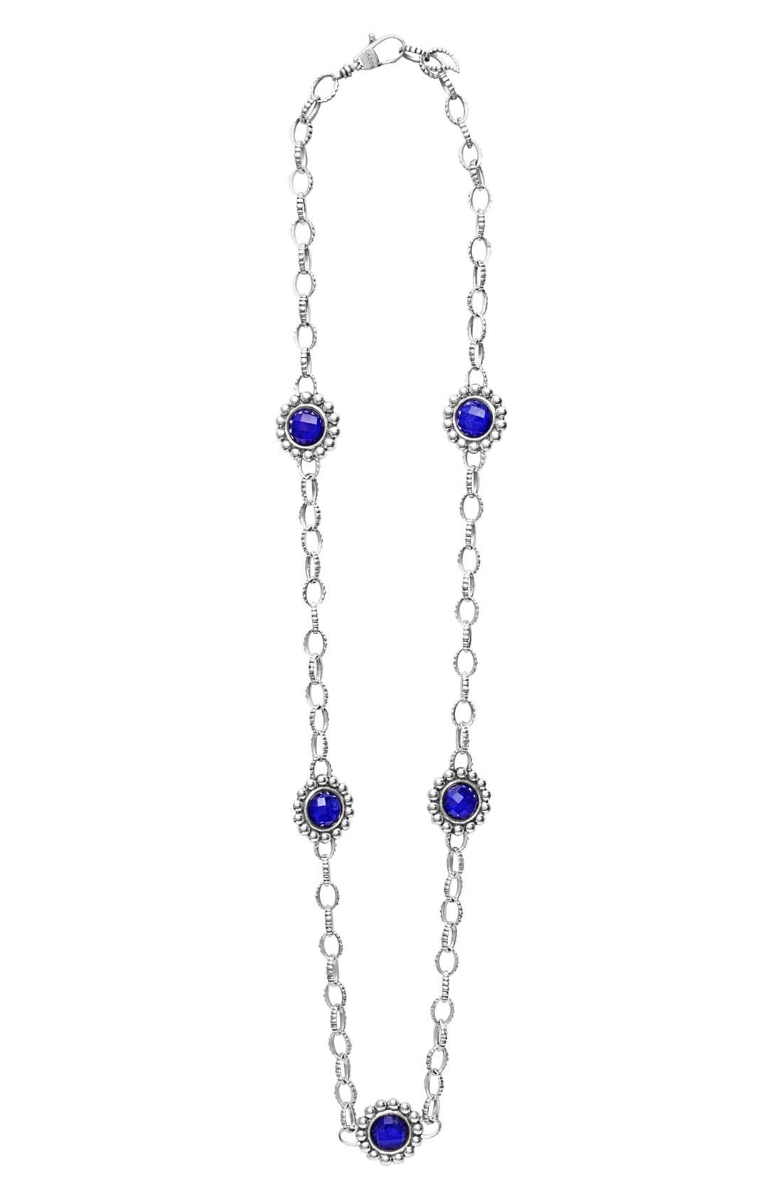 'Maya' Station Necklace,                             Main thumbnail 1, color,                             BLUE