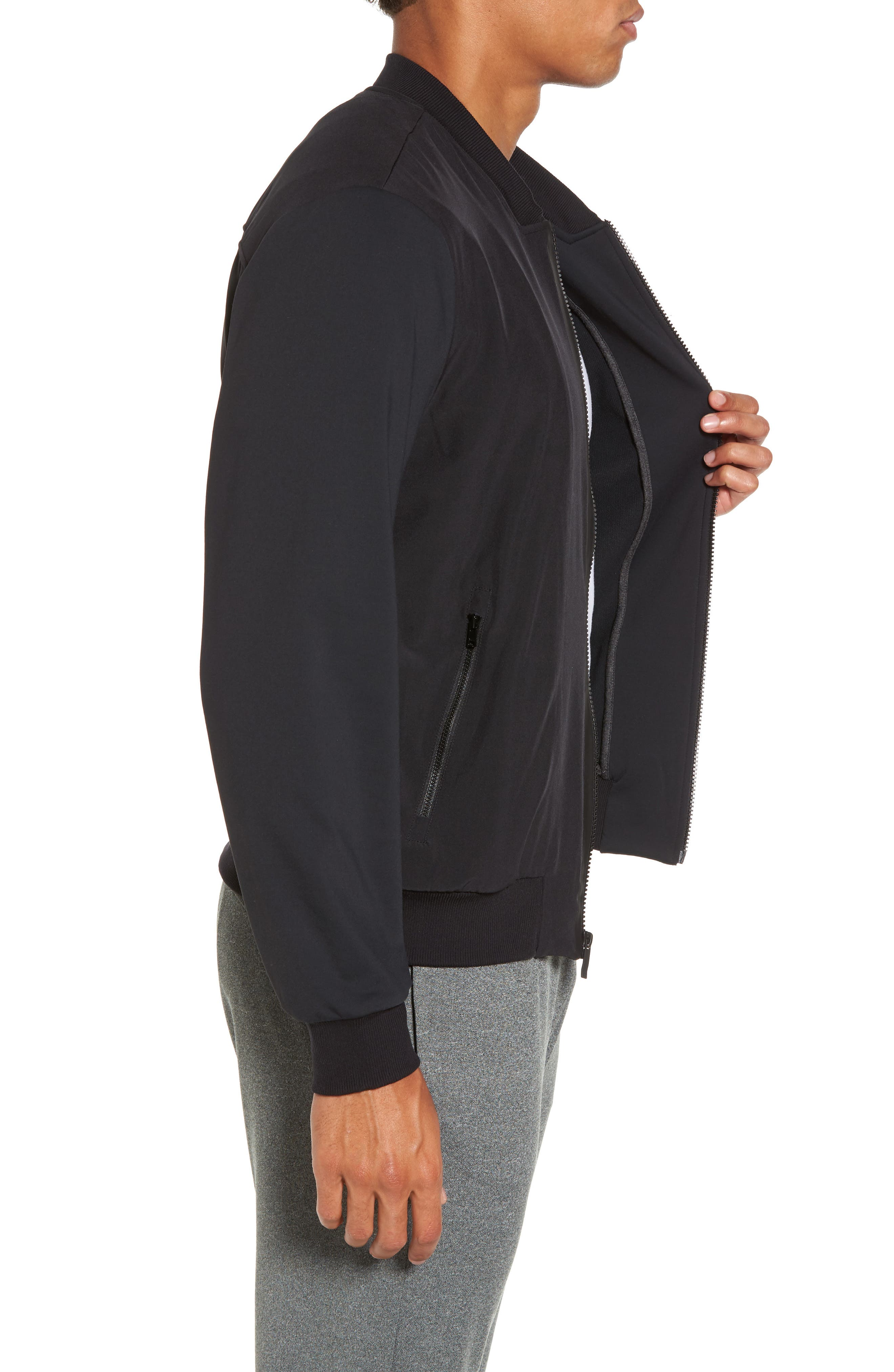 Inversion Relaxed Bomber Jacket,                             Alternate thumbnail 3, color,                             001