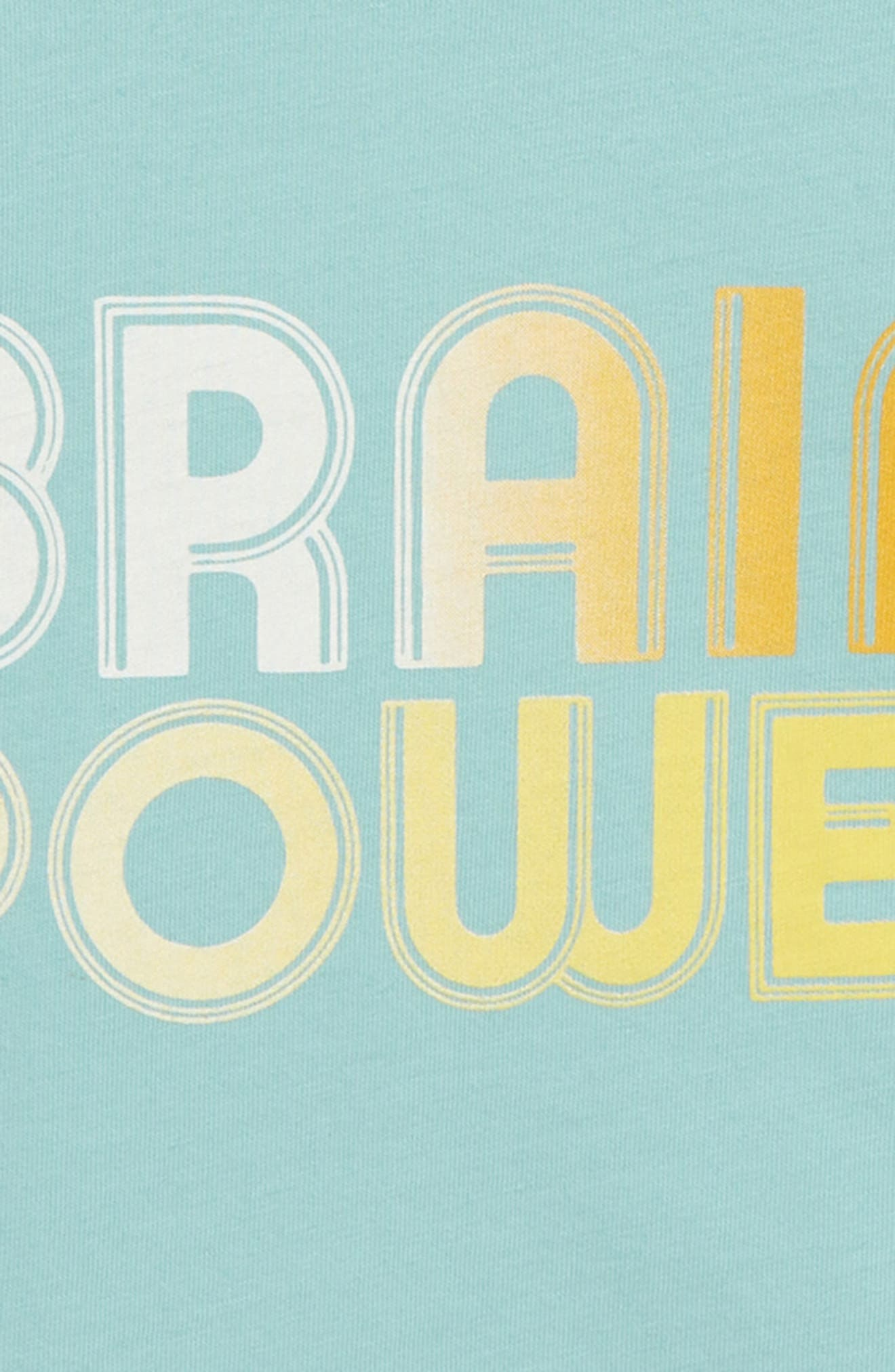 Brain Power Graphic T-Shirt,                             Alternate thumbnail 3, color,                             TEAL