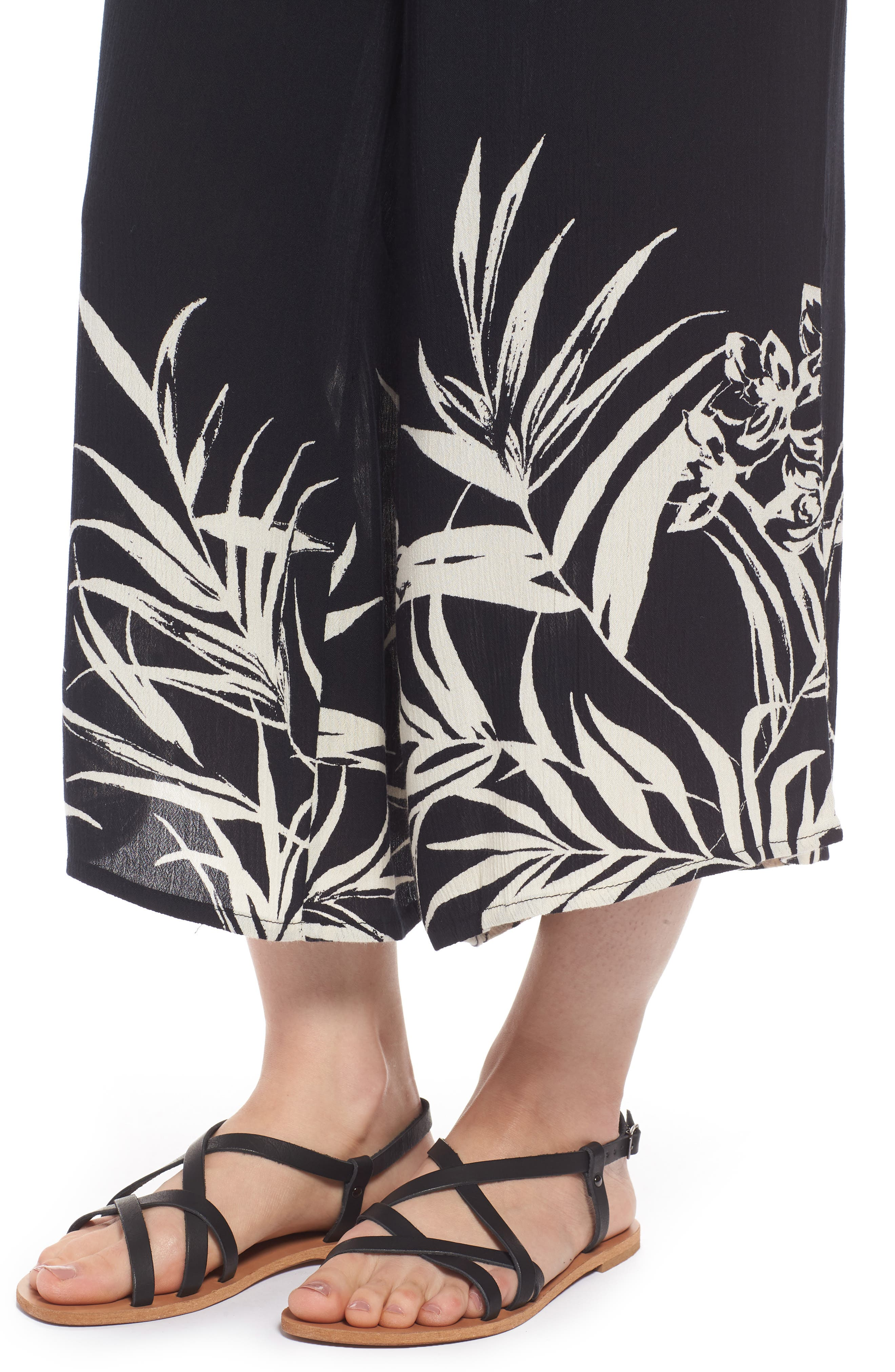 Hawaiian Daze Print Culottes,                             Alternate thumbnail 4, color,