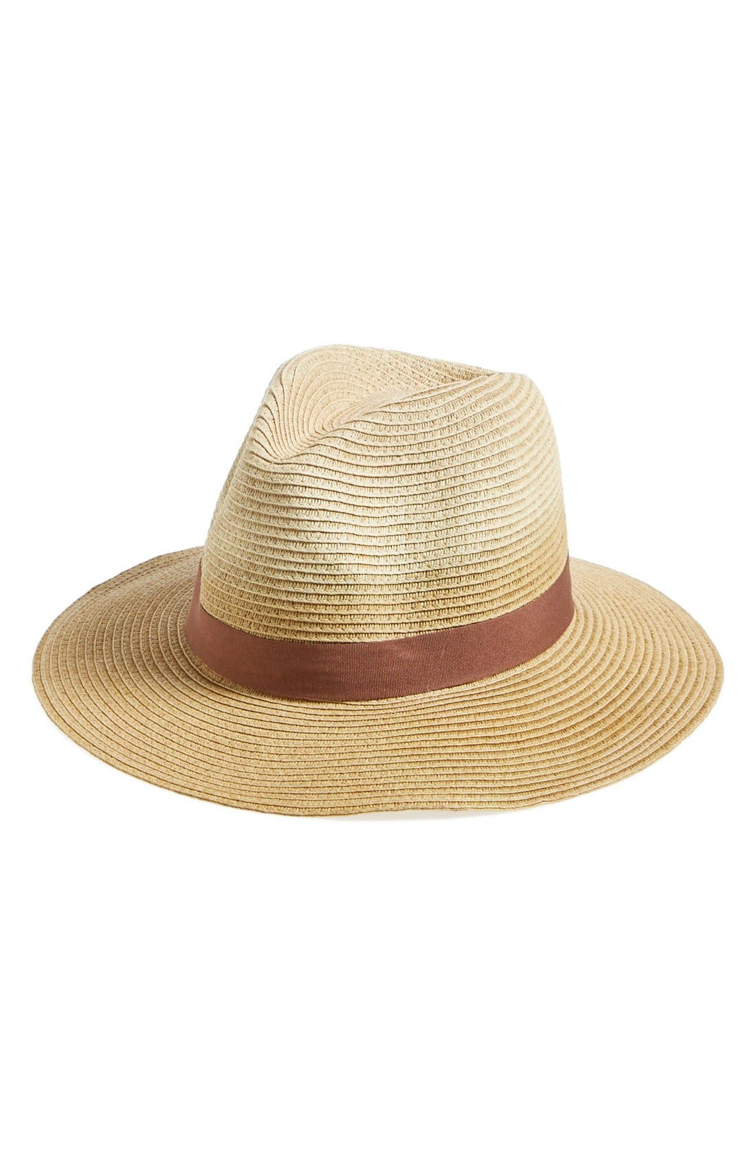 T+C BY THEODORA & CALLUM,                             Dip Dye Straw Panama Hat,                             Main thumbnail 1, color,                             250