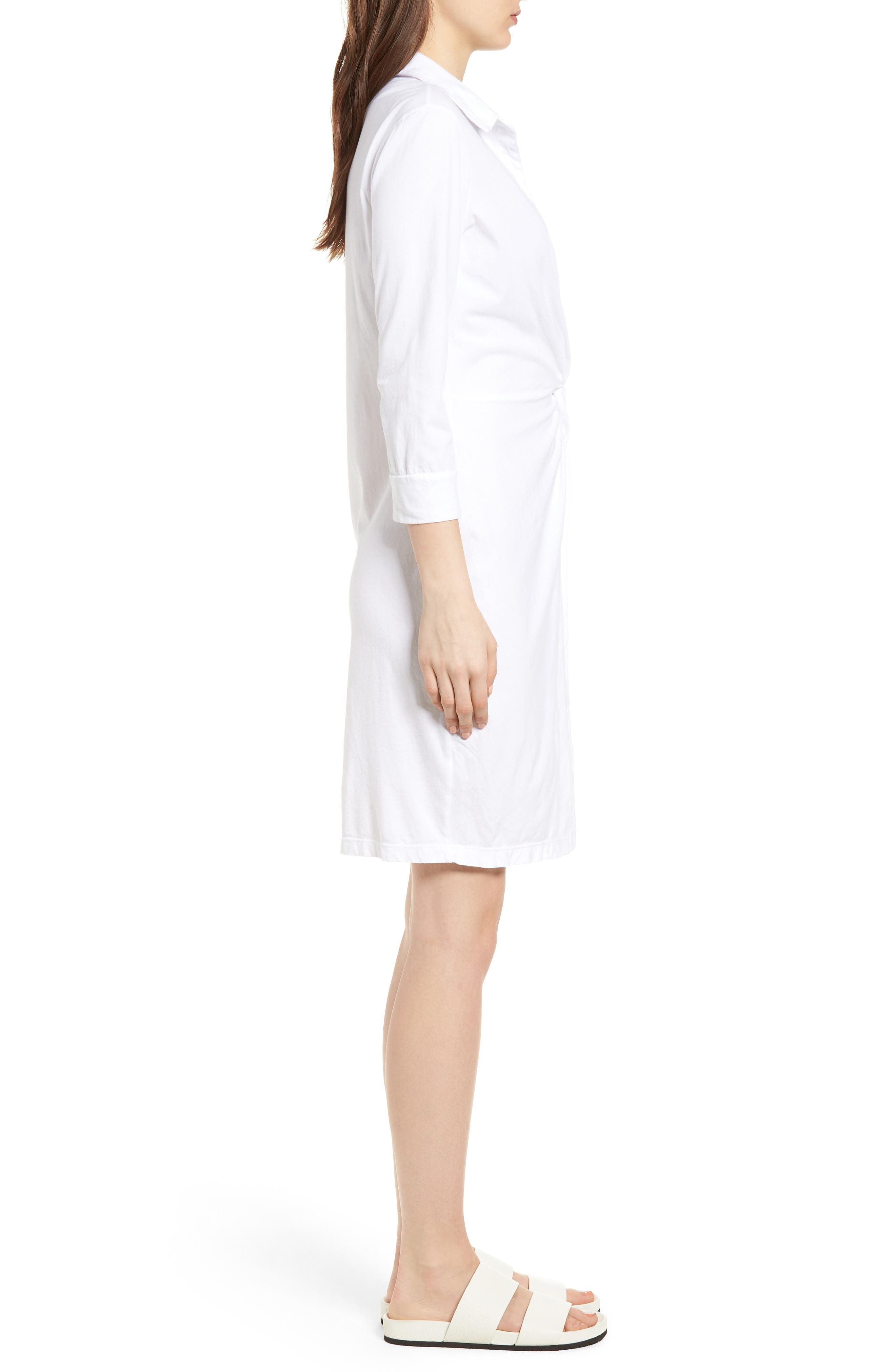 Twist Waist Brushed Jersey Dress,                             Alternate thumbnail 5, color,