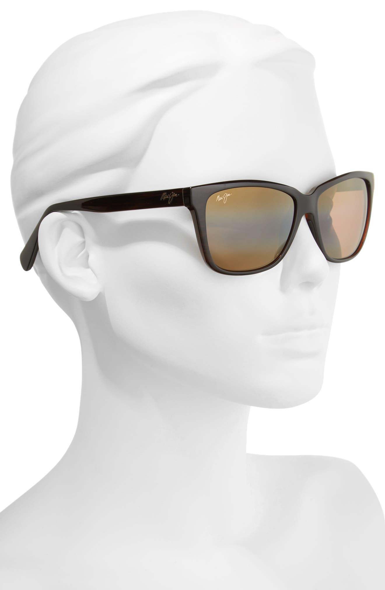 56mm Jacaranda Polarized Sunglasses,                             Alternate thumbnail 7, color,