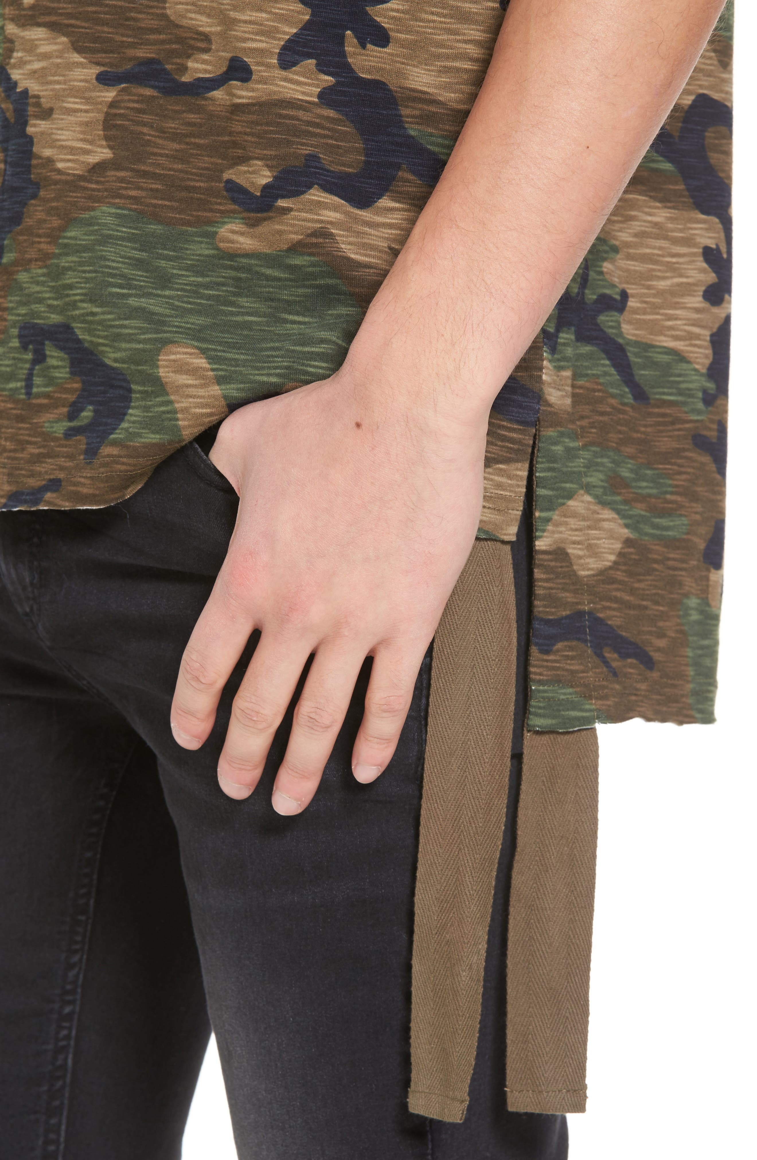Camo Strapped T-Shirt,                             Alternate thumbnail 4, color,                             210