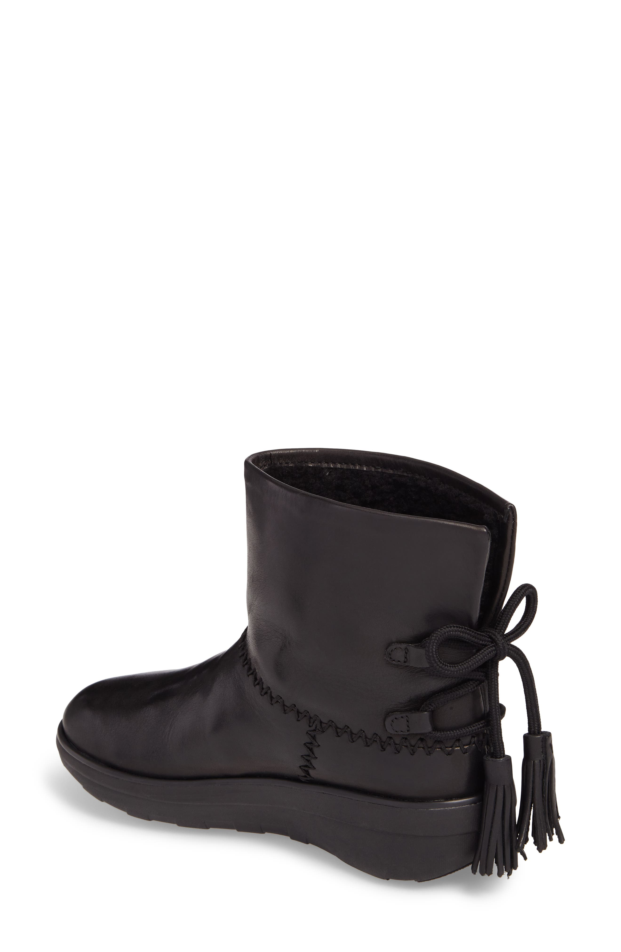 Mukluk Shorty II Boot with Genuine Shearling Lining,                             Alternate thumbnail 2, color,                             001
