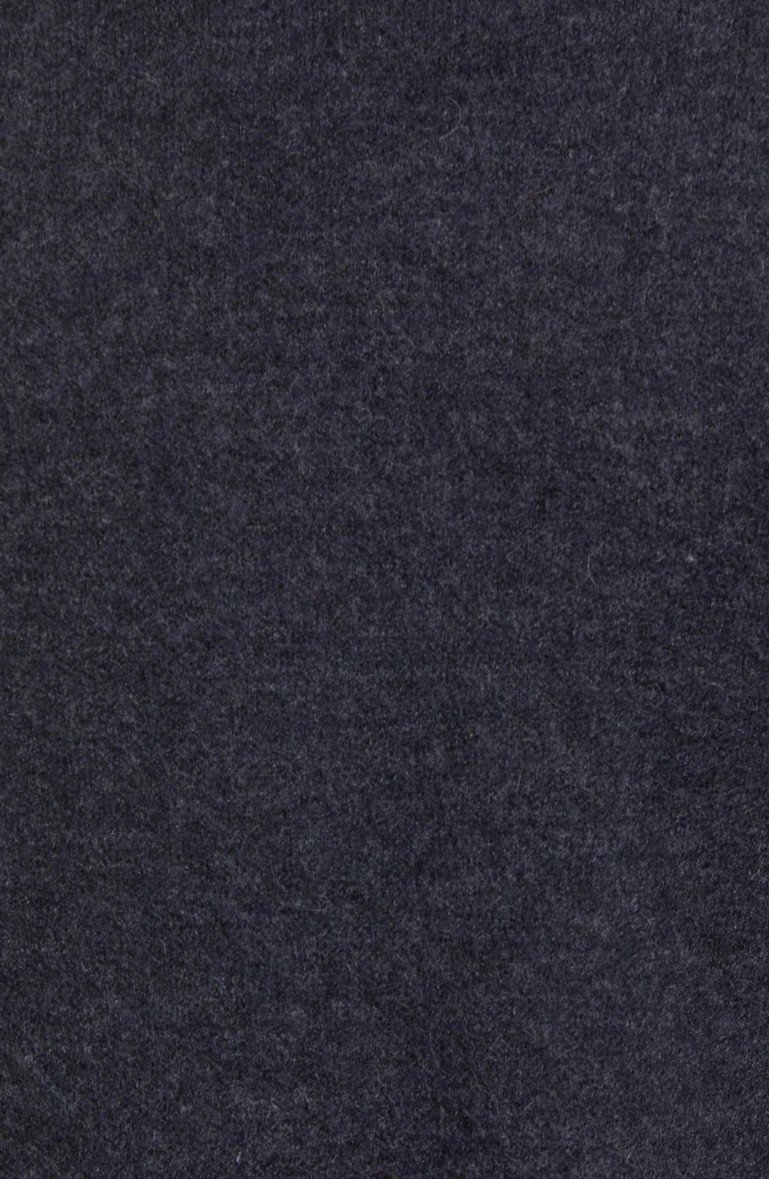Boiled Wool Blazer,                             Alternate thumbnail 5, color,                             CHARCOAL MELANGE