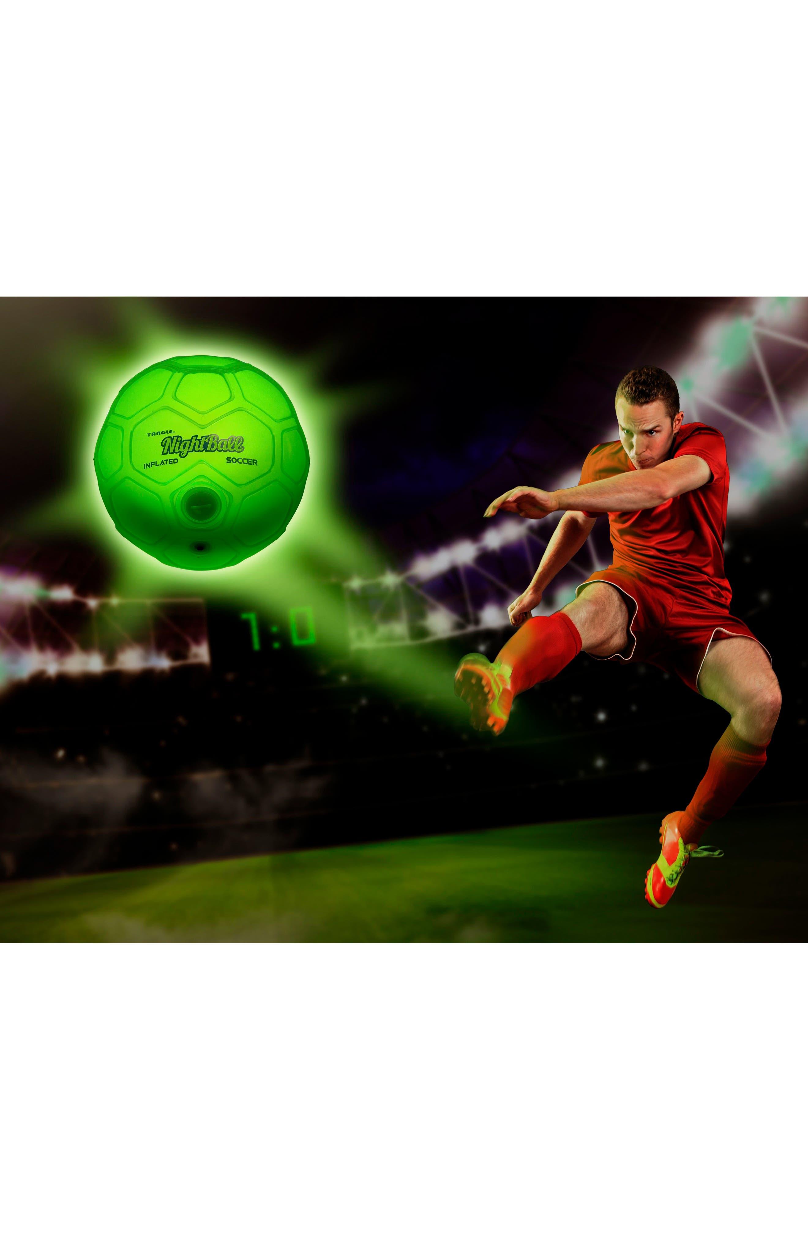NightBall Soccer Ball,                             Alternate thumbnail 4, color,                             WHITE