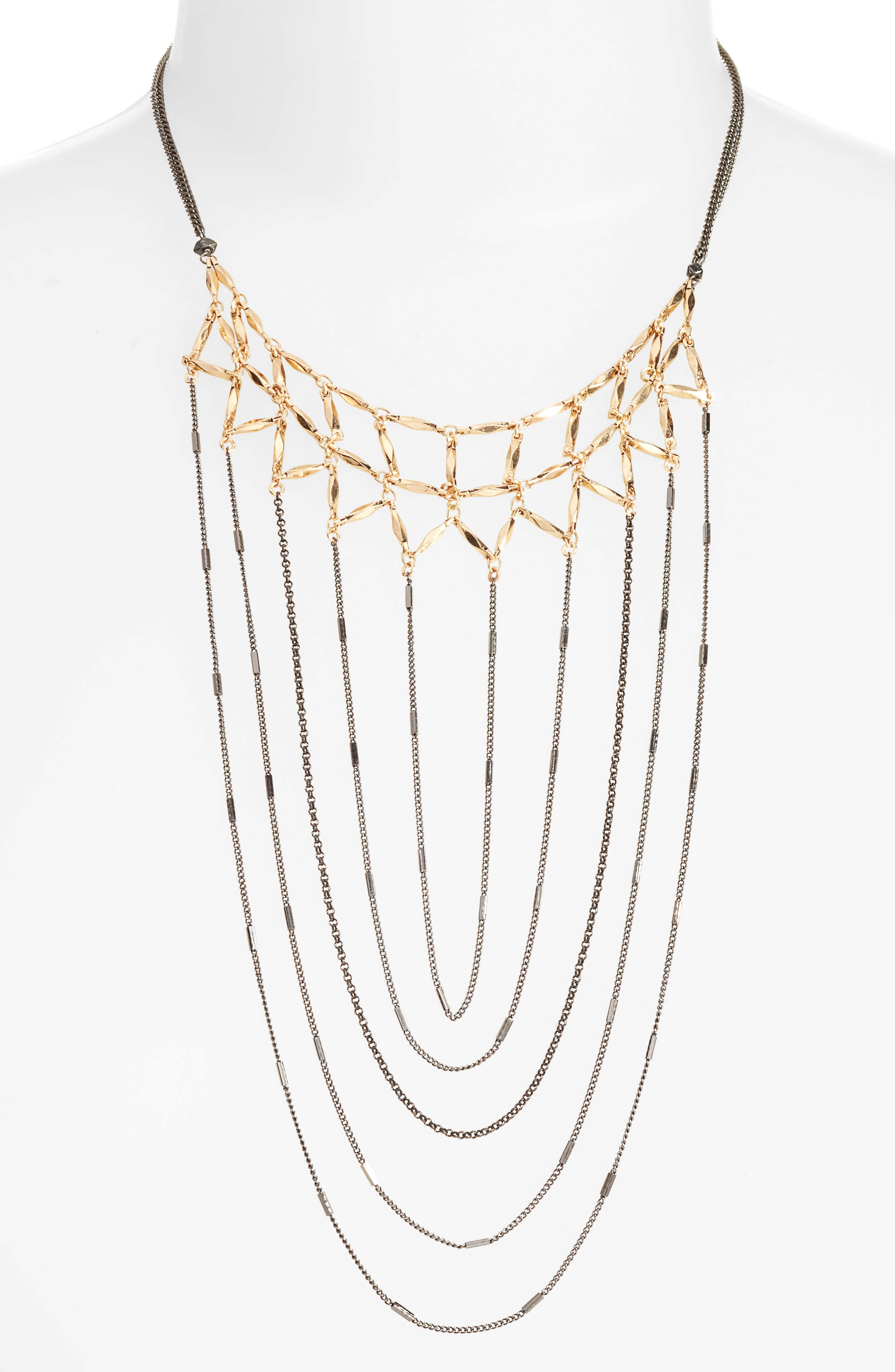 Draped Chain Necklace,                             Alternate thumbnail 2, color,                             020