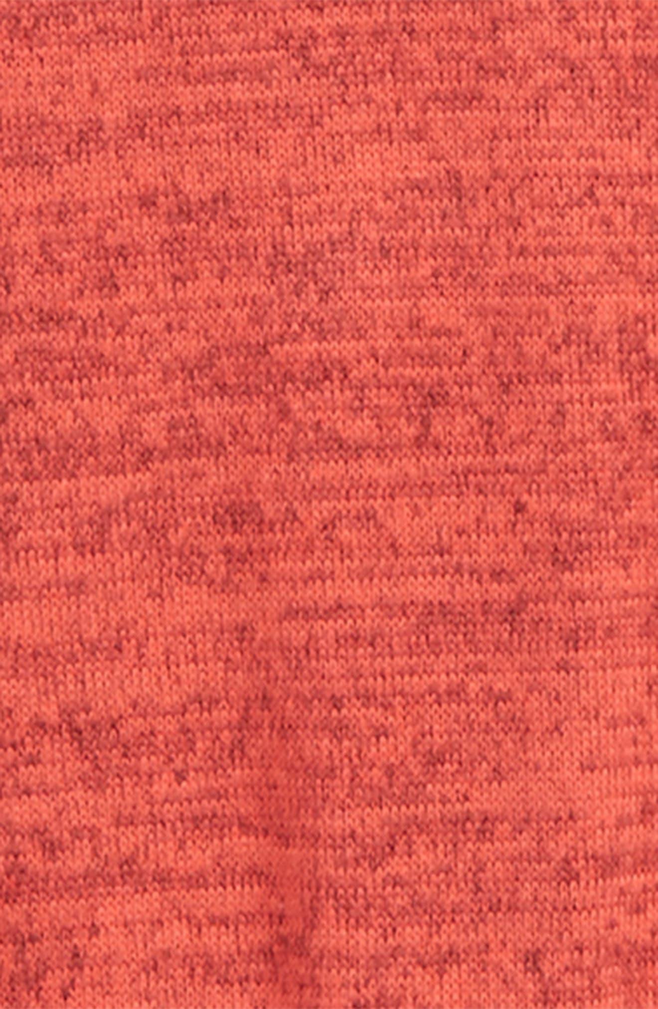 Tie Front Raglan Sweatshirt,                             Alternate thumbnail 2, color,                             RED