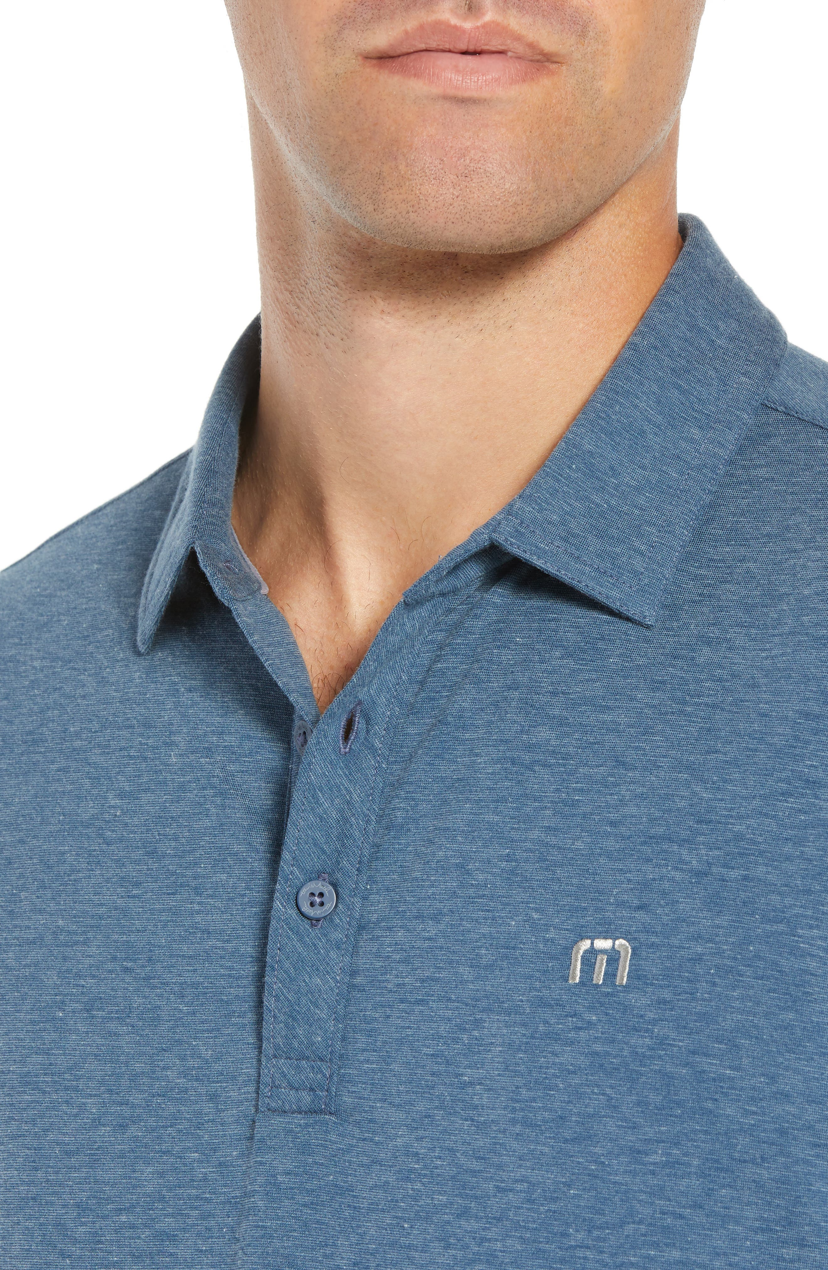 Backup Plan Regular Fit Polo,                             Alternate thumbnail 4, color,                             TRADEWINDS/ BLUE WING TEAL