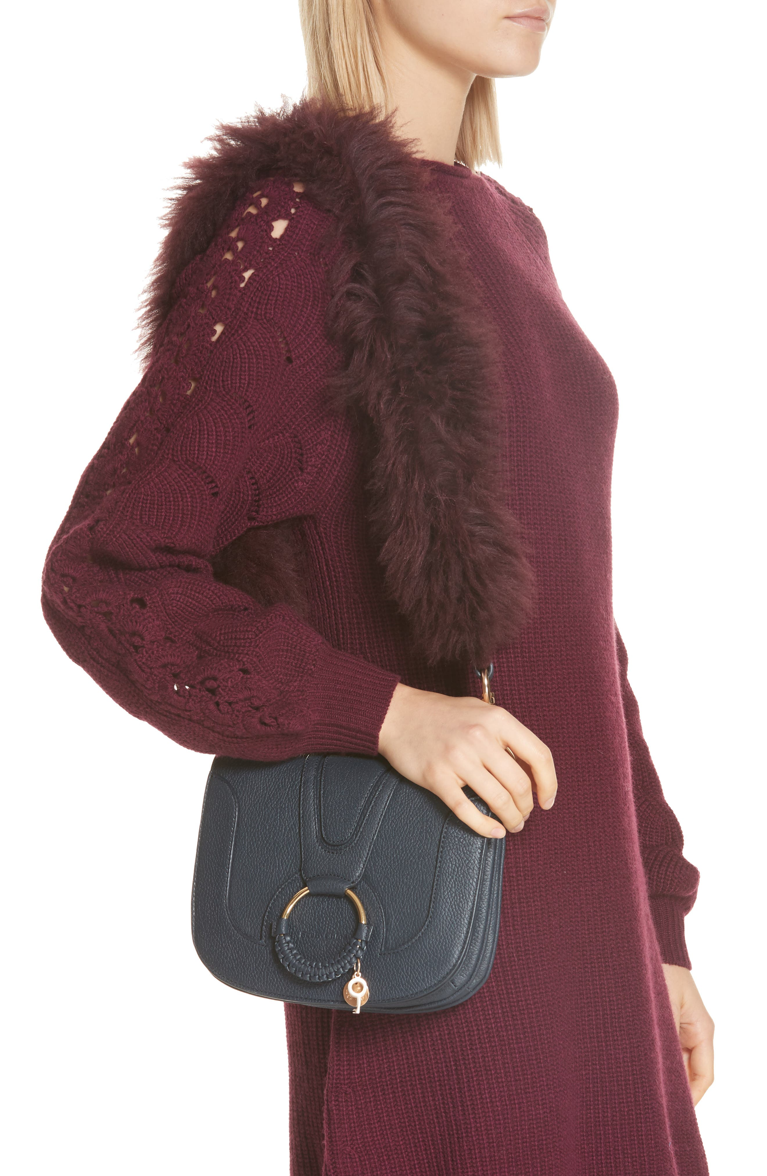 Hana Leather Shoulder Bag,                             Alternate thumbnail 2, color,                             401