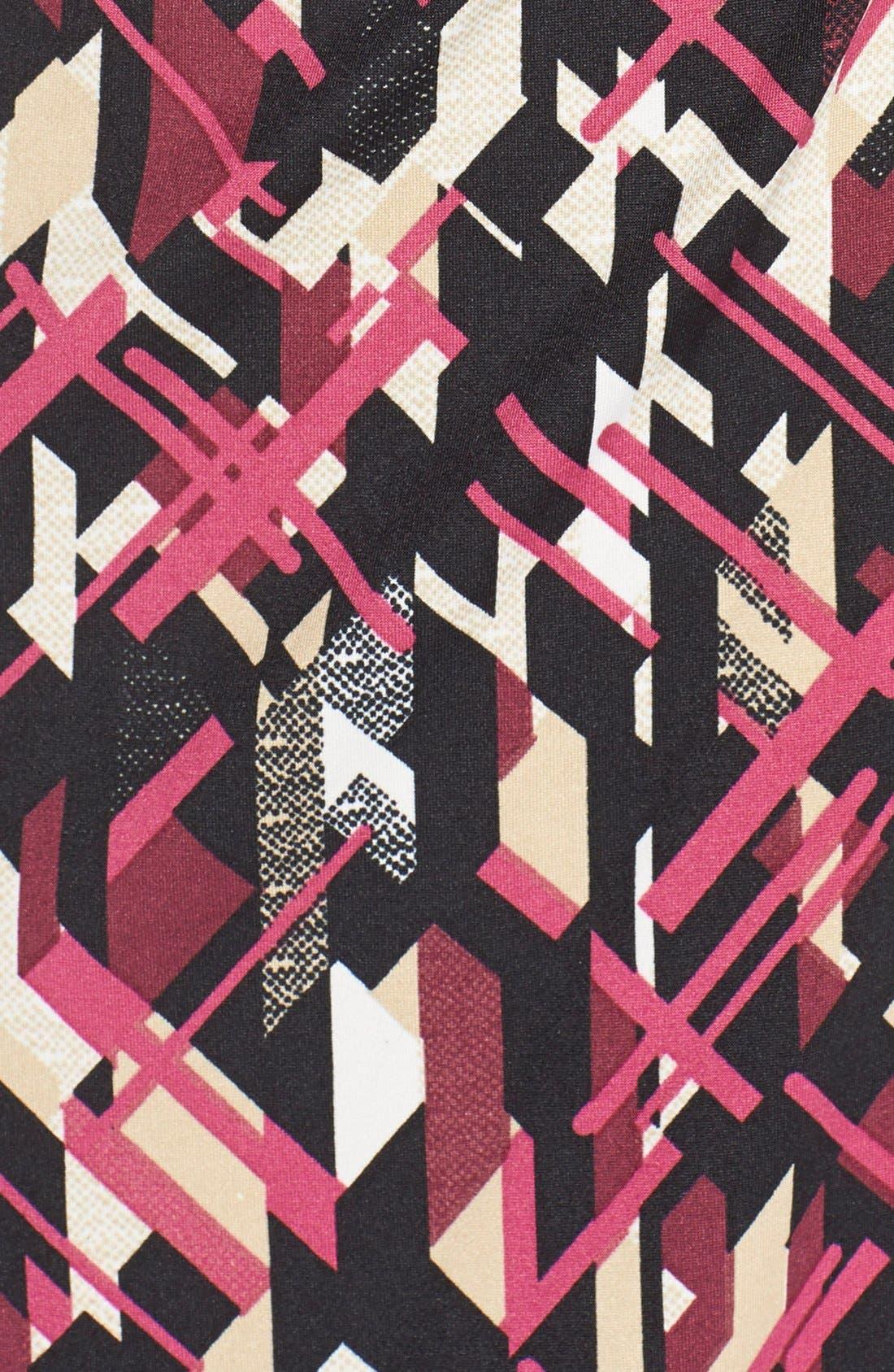 Print Jersey Faux Wrap Sheath Dress,                             Alternate thumbnail 5, color,                             007