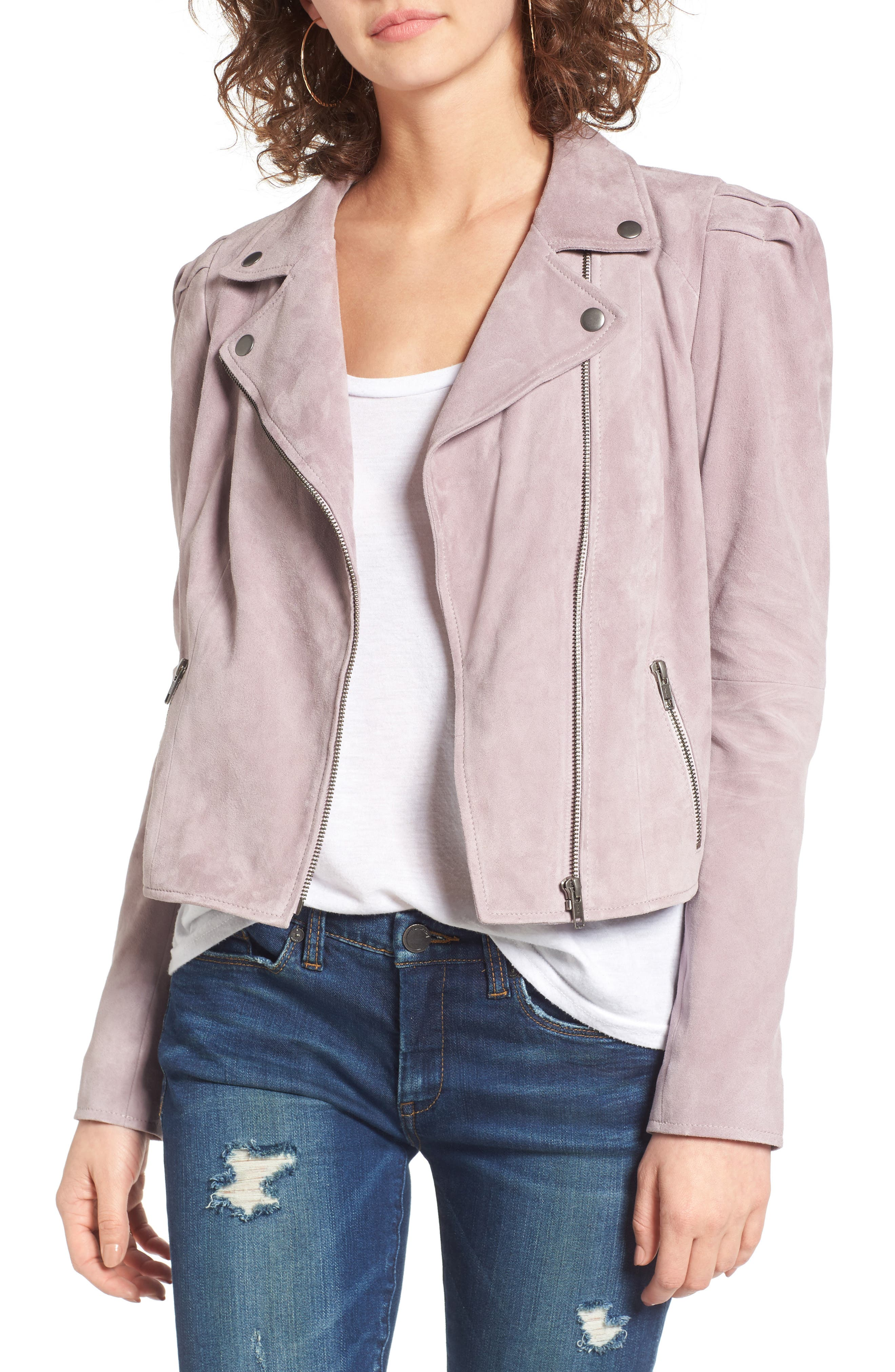 Suede Moto Jacket,                         Main,                         color, 510