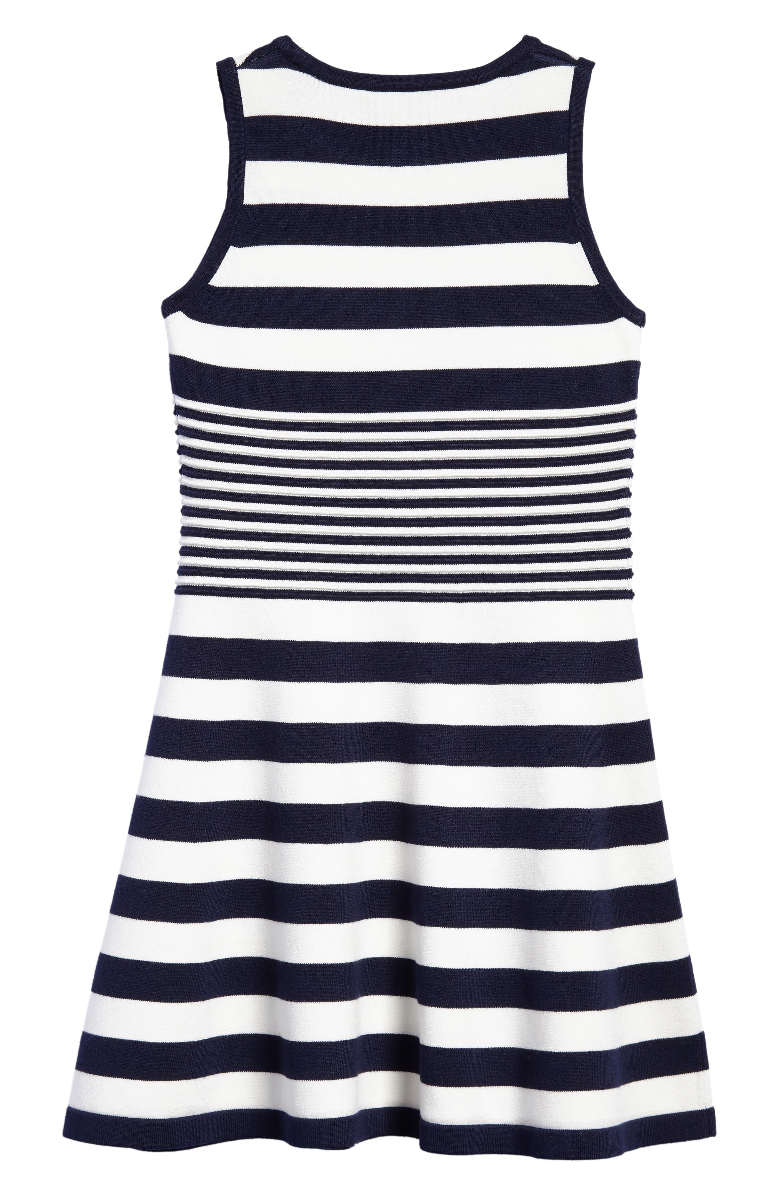 Stripe Sleeveless Dress,                             Alternate thumbnail 2, color,                             155