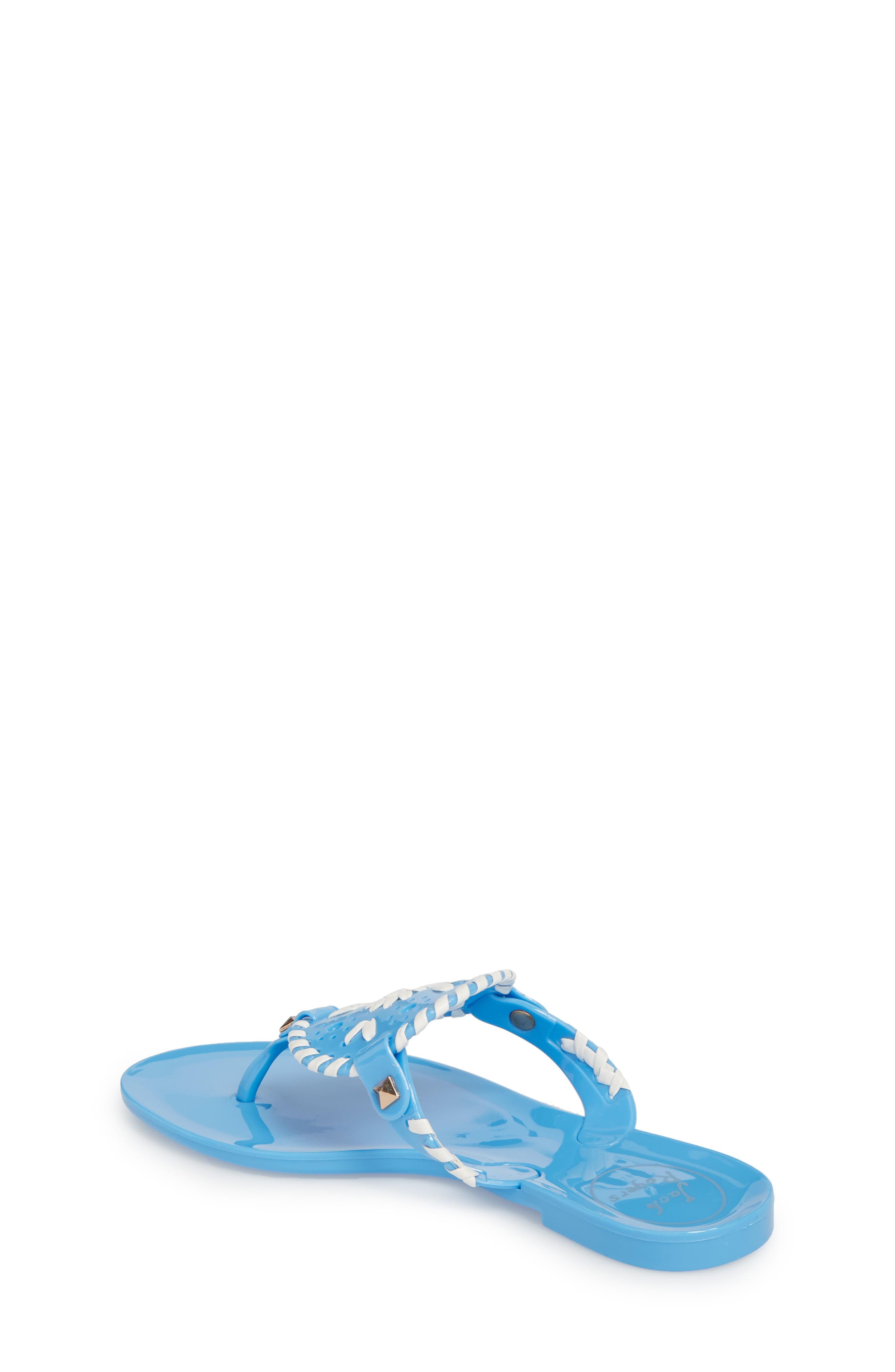 'Miss Georgica' Jelly Flip Flop,                             Alternate thumbnail 2, color,                             FRENCH BLUE/ WHITE JELLY