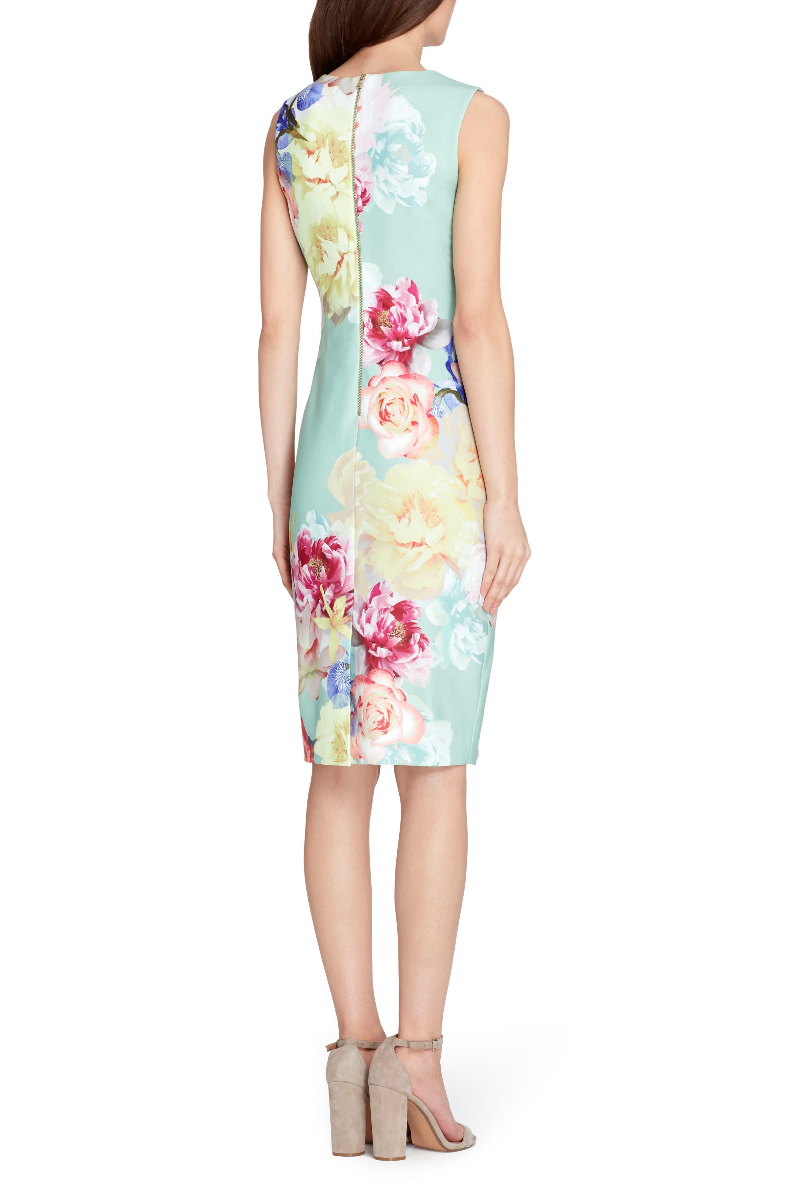 Floral Sheath Dress,                             Alternate thumbnail 2, color,