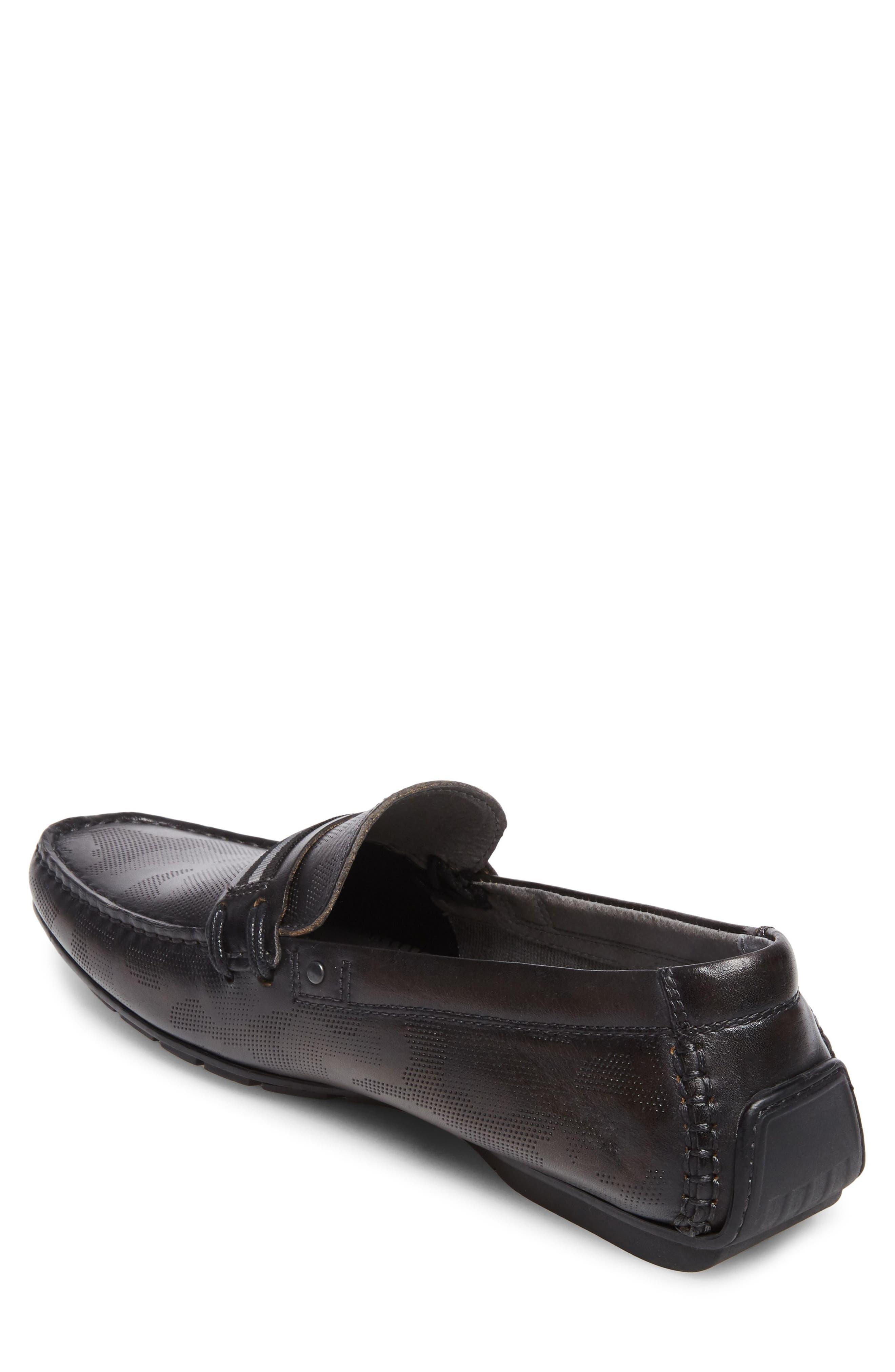 Garvet Textured Driving Loafer,                             Alternate thumbnail 2, color,                             001